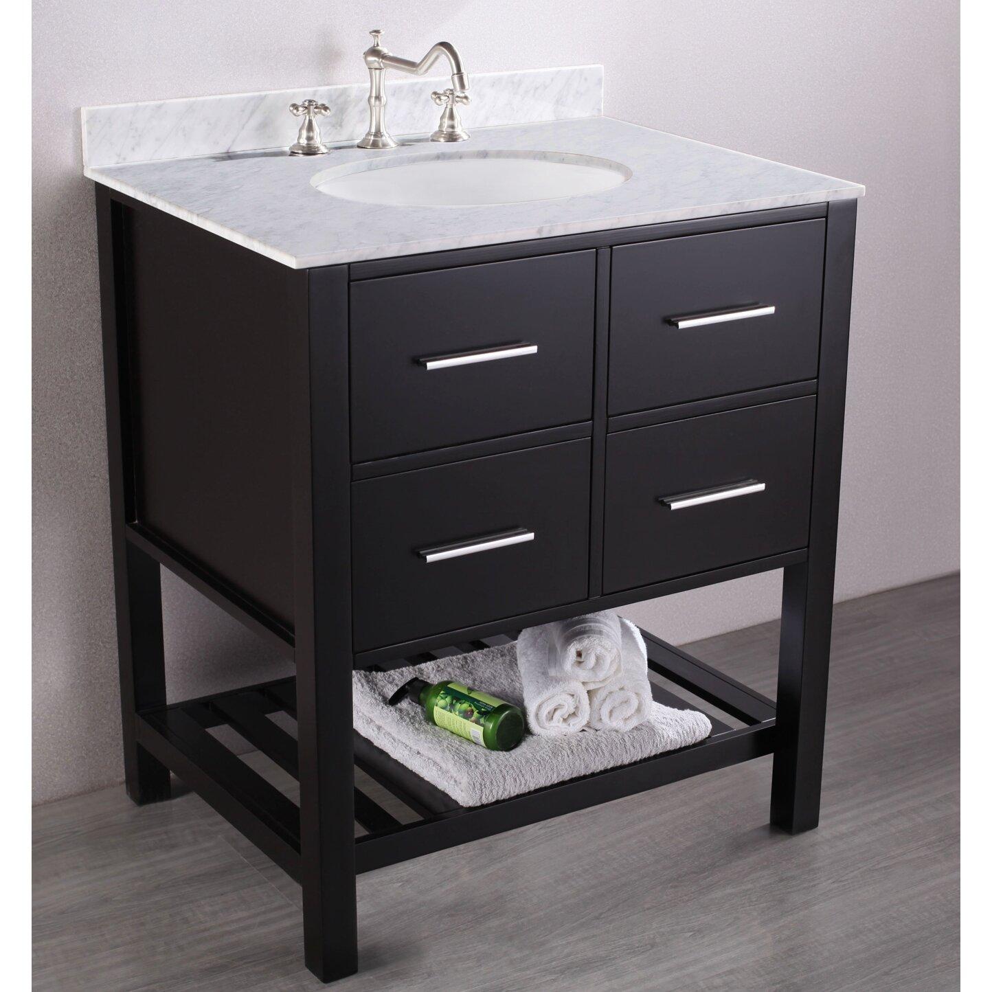 Bosconi Contemporary 30 Single Bathroom Vanity Set With