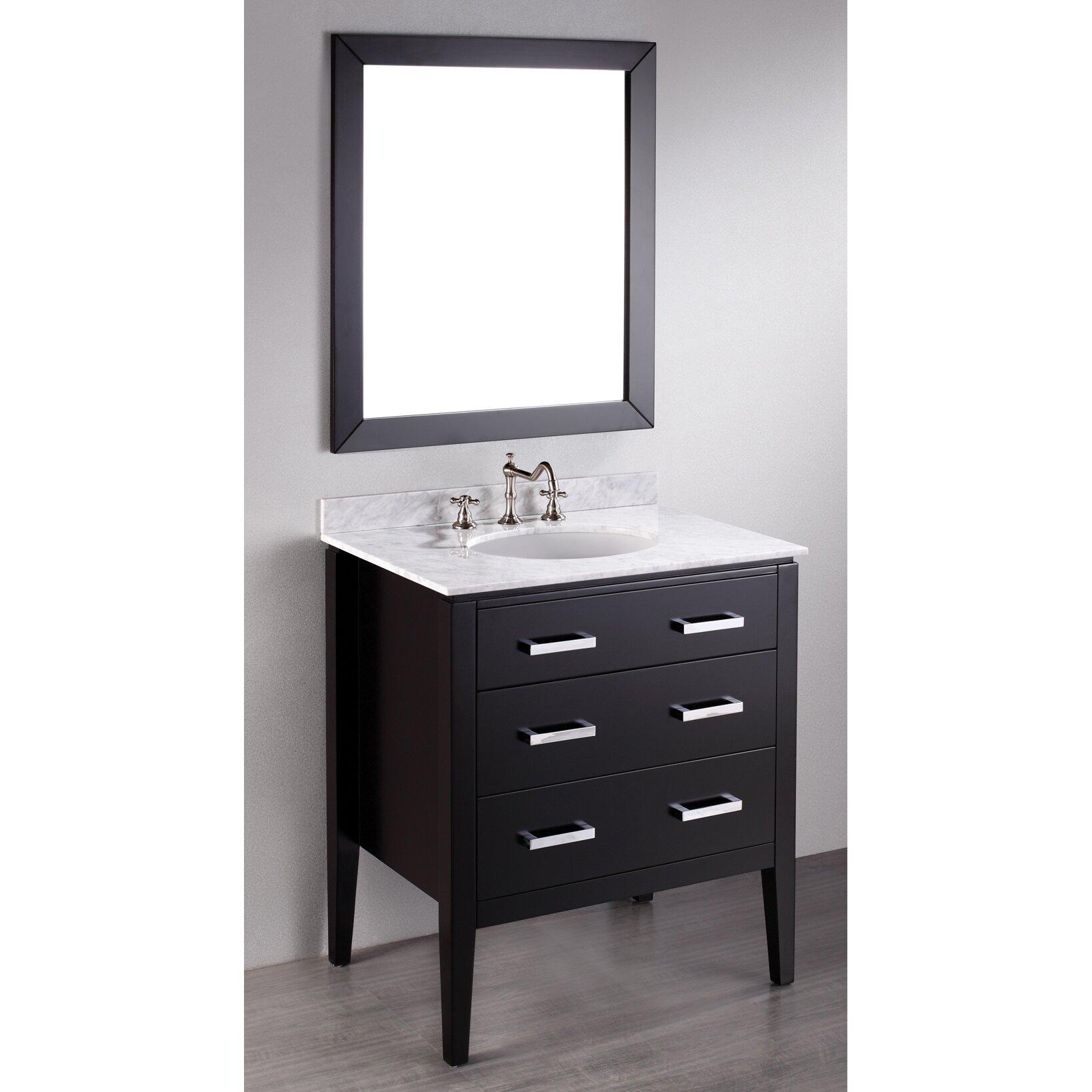 bosconi contemporary 31 quot single bathroom vanity set with