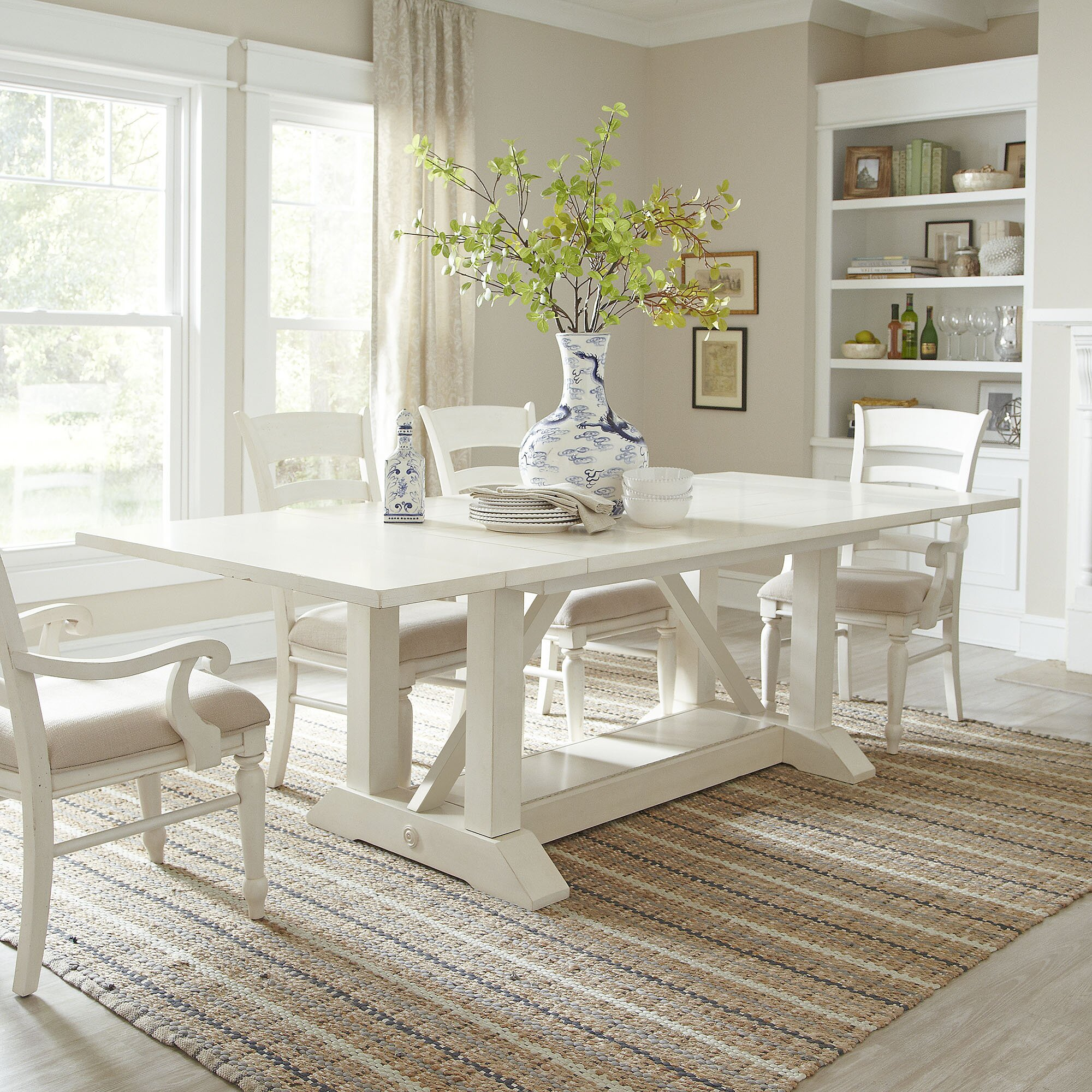 Birch lane lisbon extending dining table reviews wayfair for Nautical kitchen table