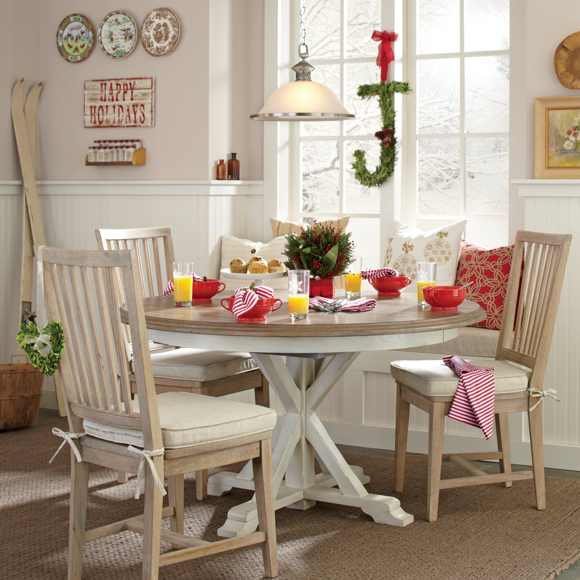Birch lane grafton extending round dining table reviews wayfair - Birch kitchen table ...