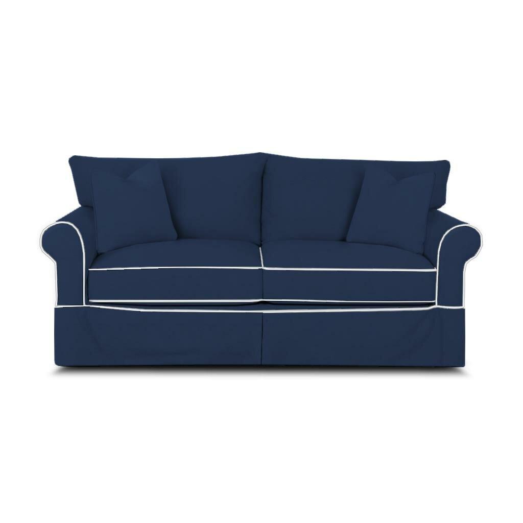 Birch lane jameson sleeper sofa with contrast welt for Lane sectional sleeper sofa