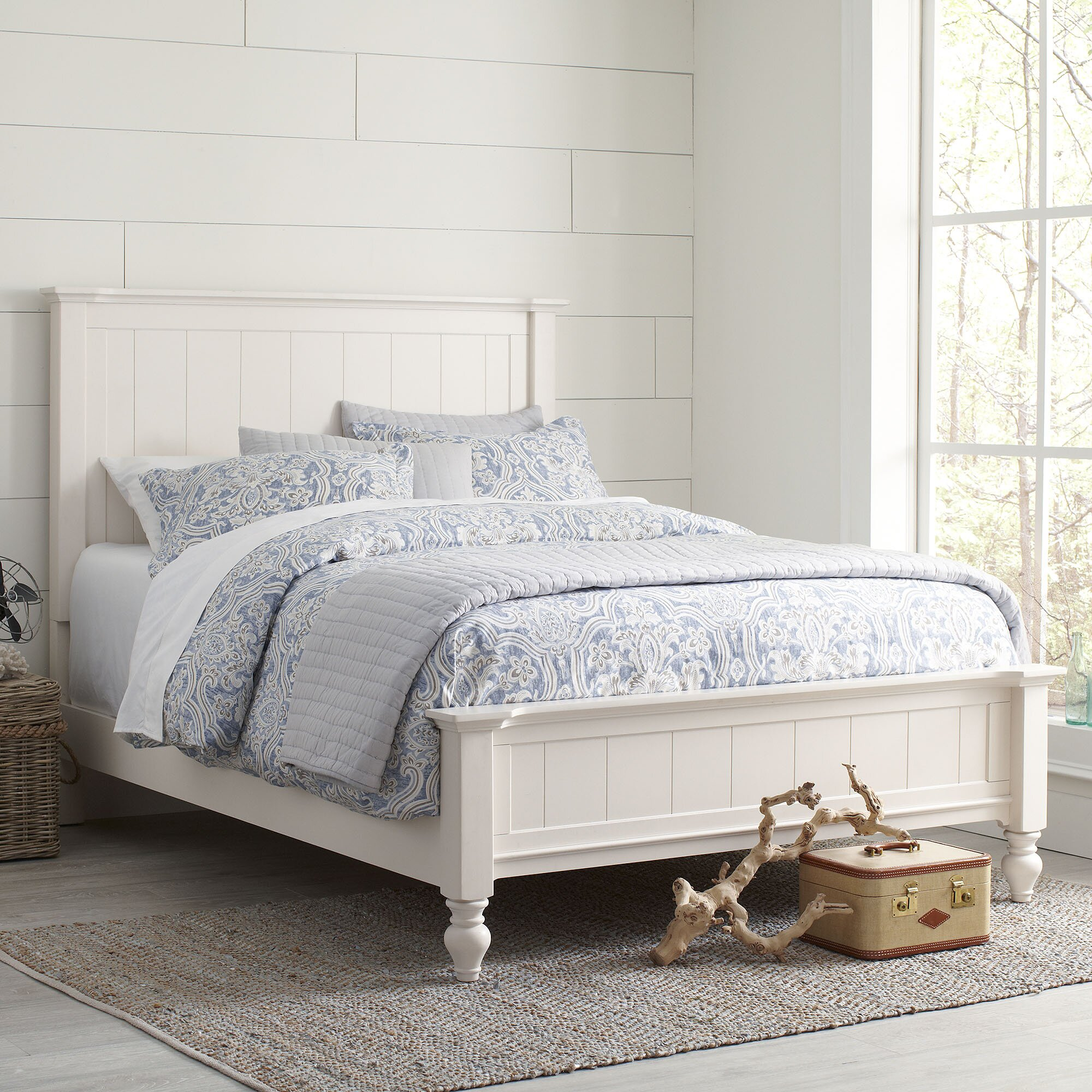 Birch lane caleb panel bed reviews wayfair for Lane bedroom furniture