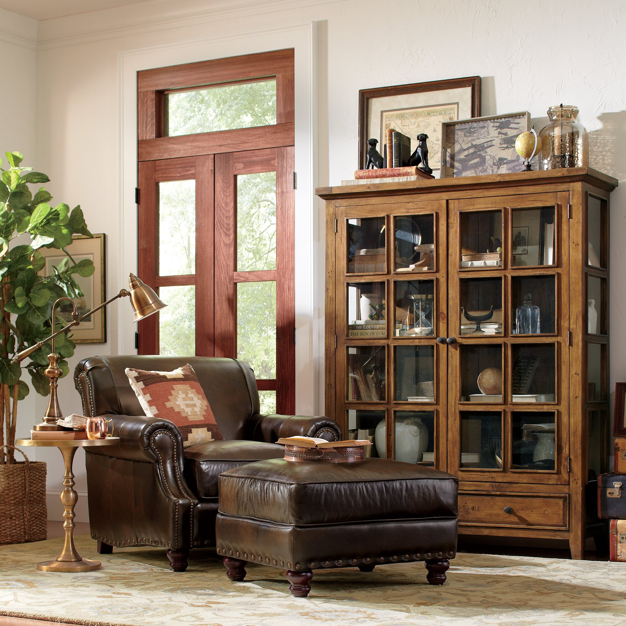 Lane Bedroom Sets Birch Lane Landry Leather Chair Amp Reviews Wayfair