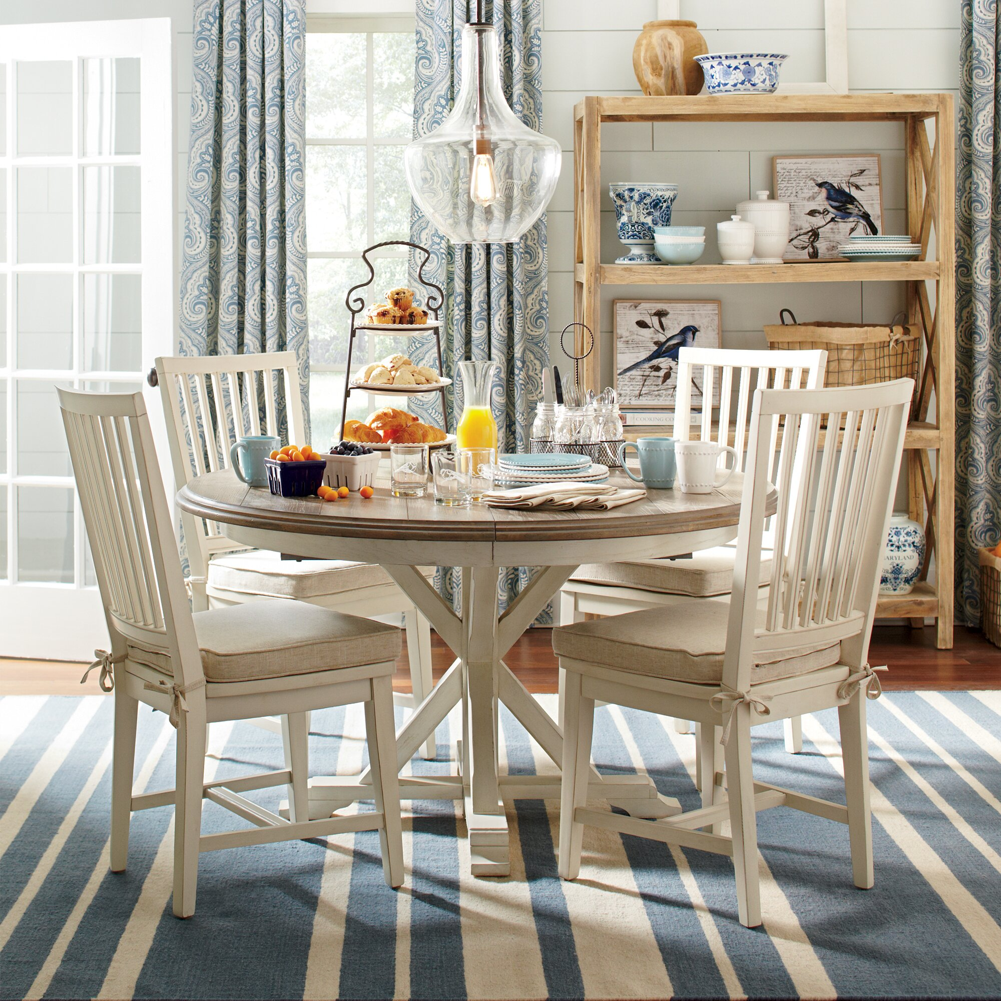 birch lane grafton extending round dining table reviews wayfair