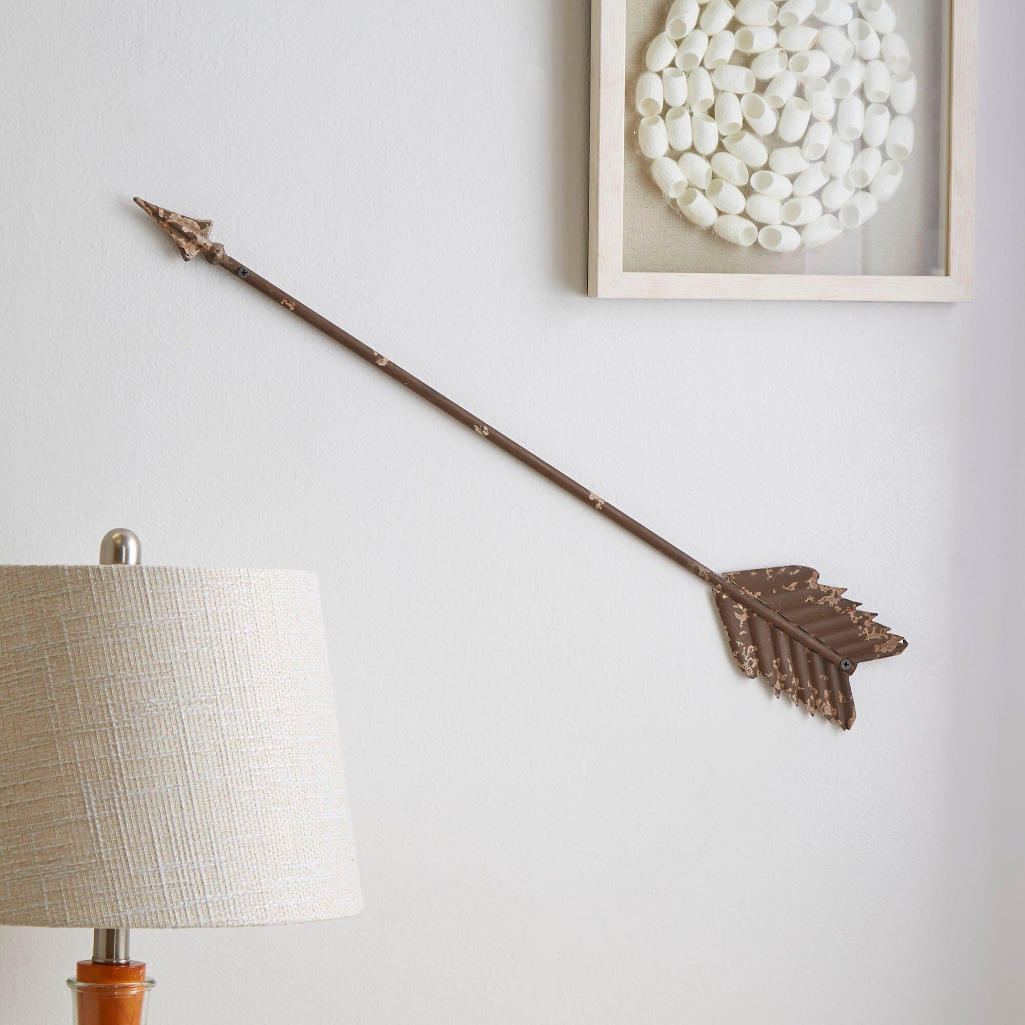 Birch lane arrow wall d cor reviews wayfair for What is wall decor