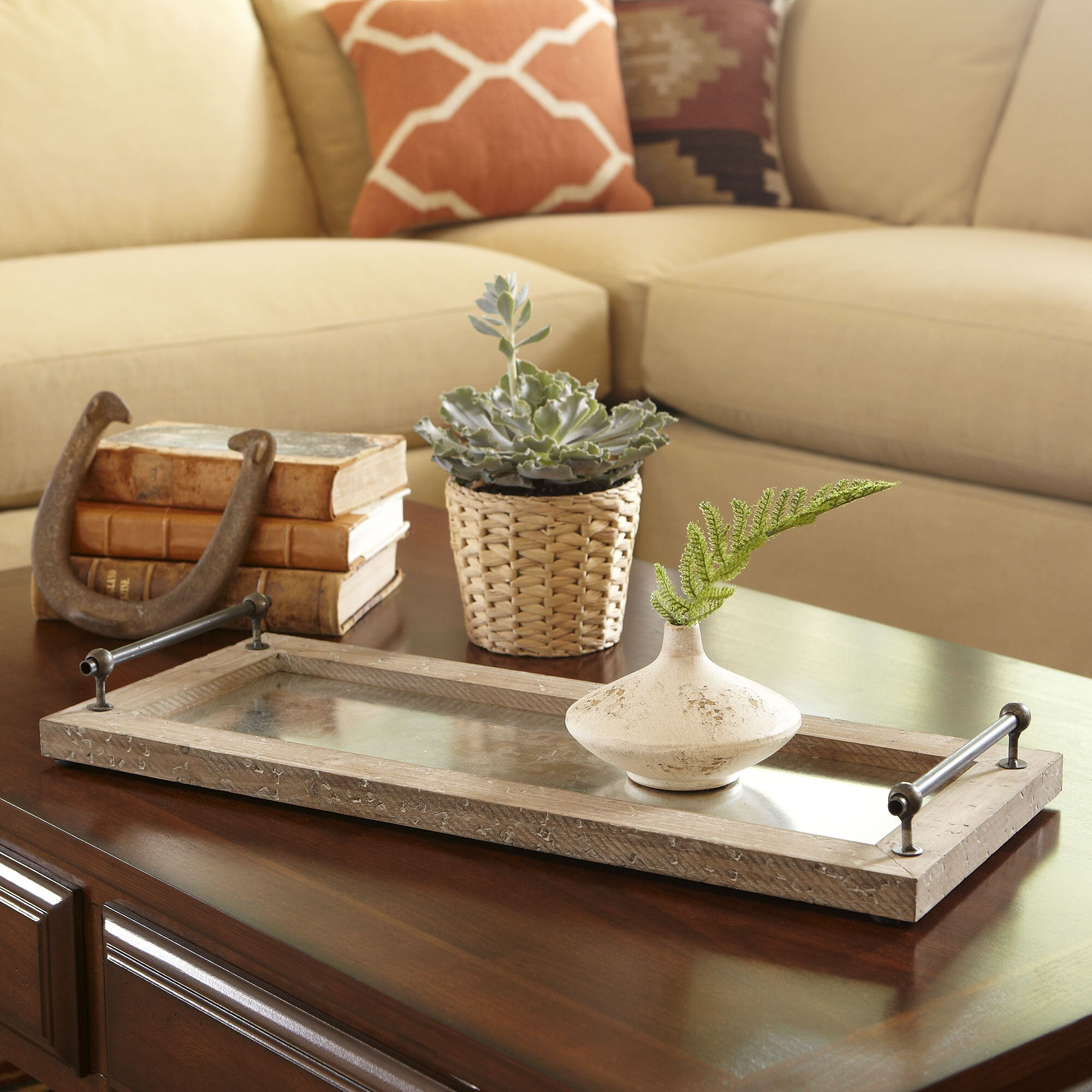 Tray Coffee Table Makeover: Birch Lane Williamsburg Tray & Reviews