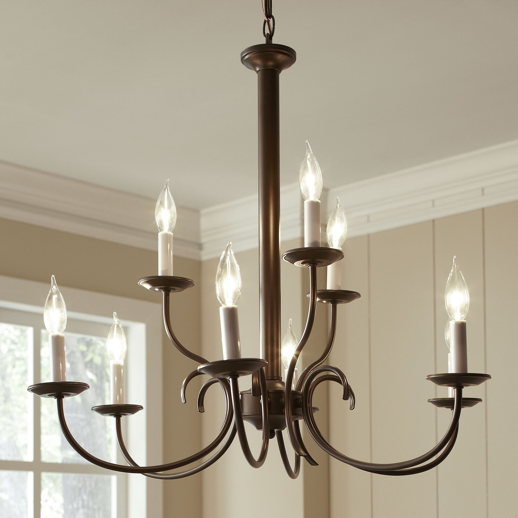 Birch lane robbins 9 light candle style chandelier reviews wayfair - Popular chandelier styles ...
