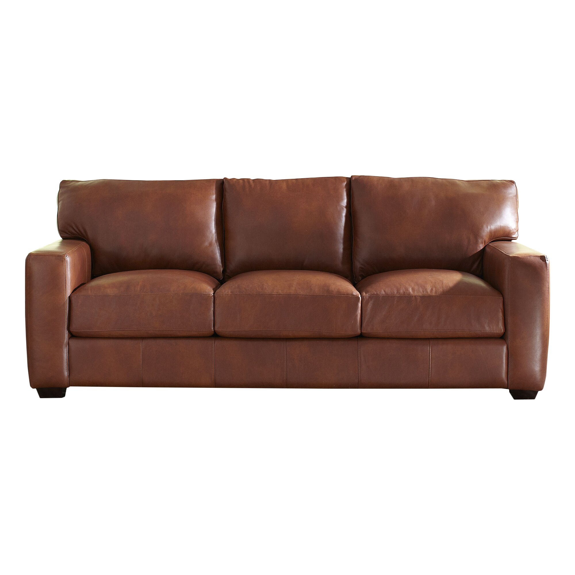 Birch lane pratt leather sofa reviews wayfair for Leather sectional sofa lane