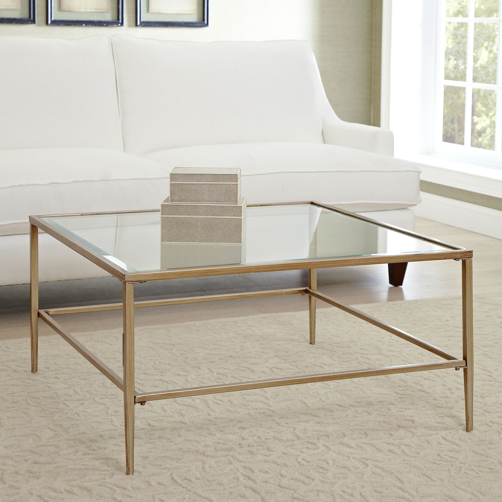 birch lane nash square coffee table reviews wayfair. Black Bedroom Furniture Sets. Home Design Ideas
