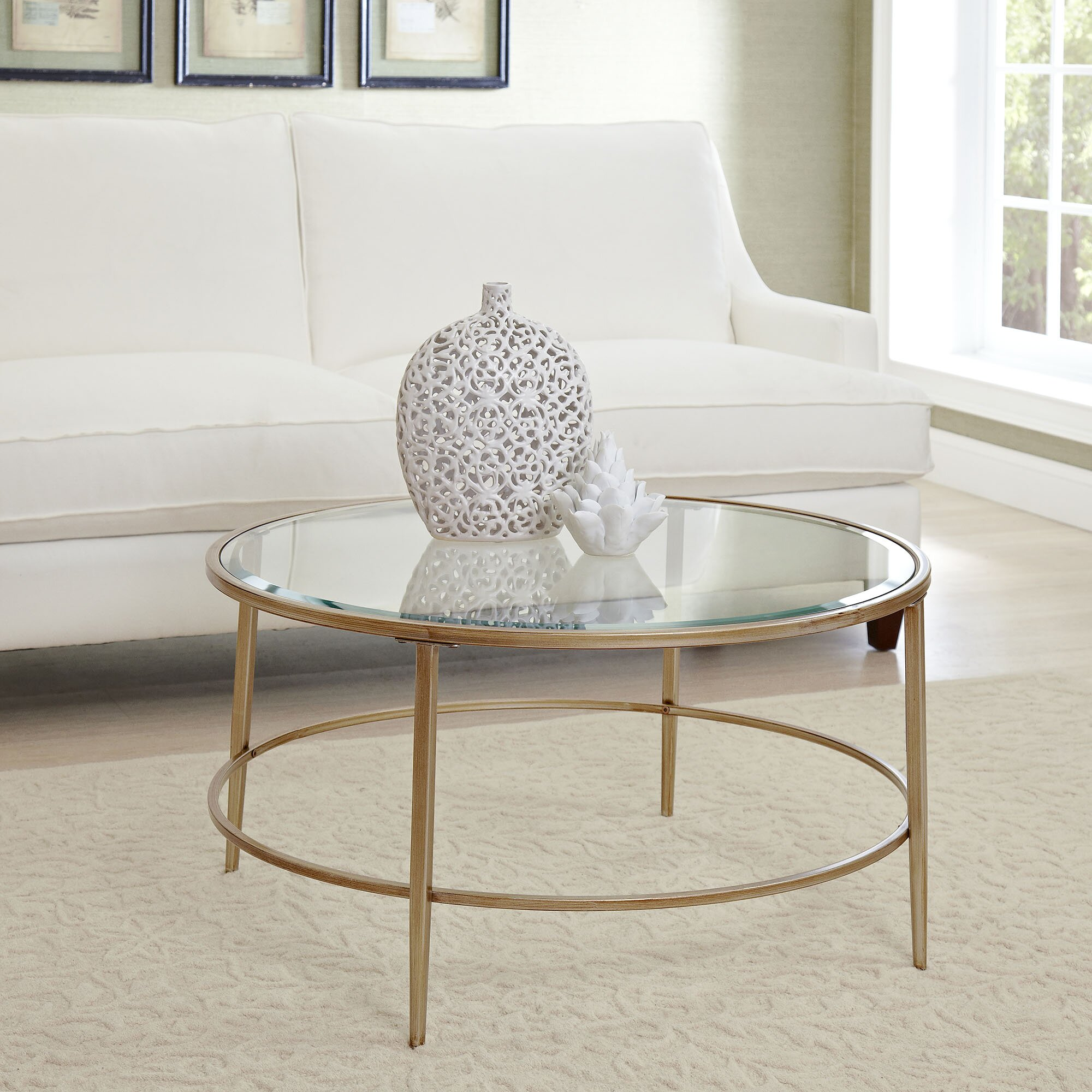 Birch Lane Nash Round Coffee Table & Reviews