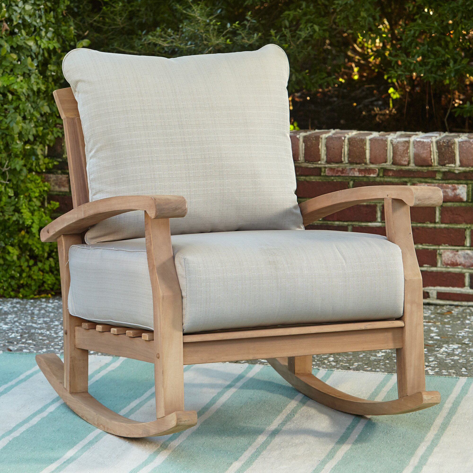 Birch Lane Summerton Teak Rocking Chair Amp Reviews Wayfair
