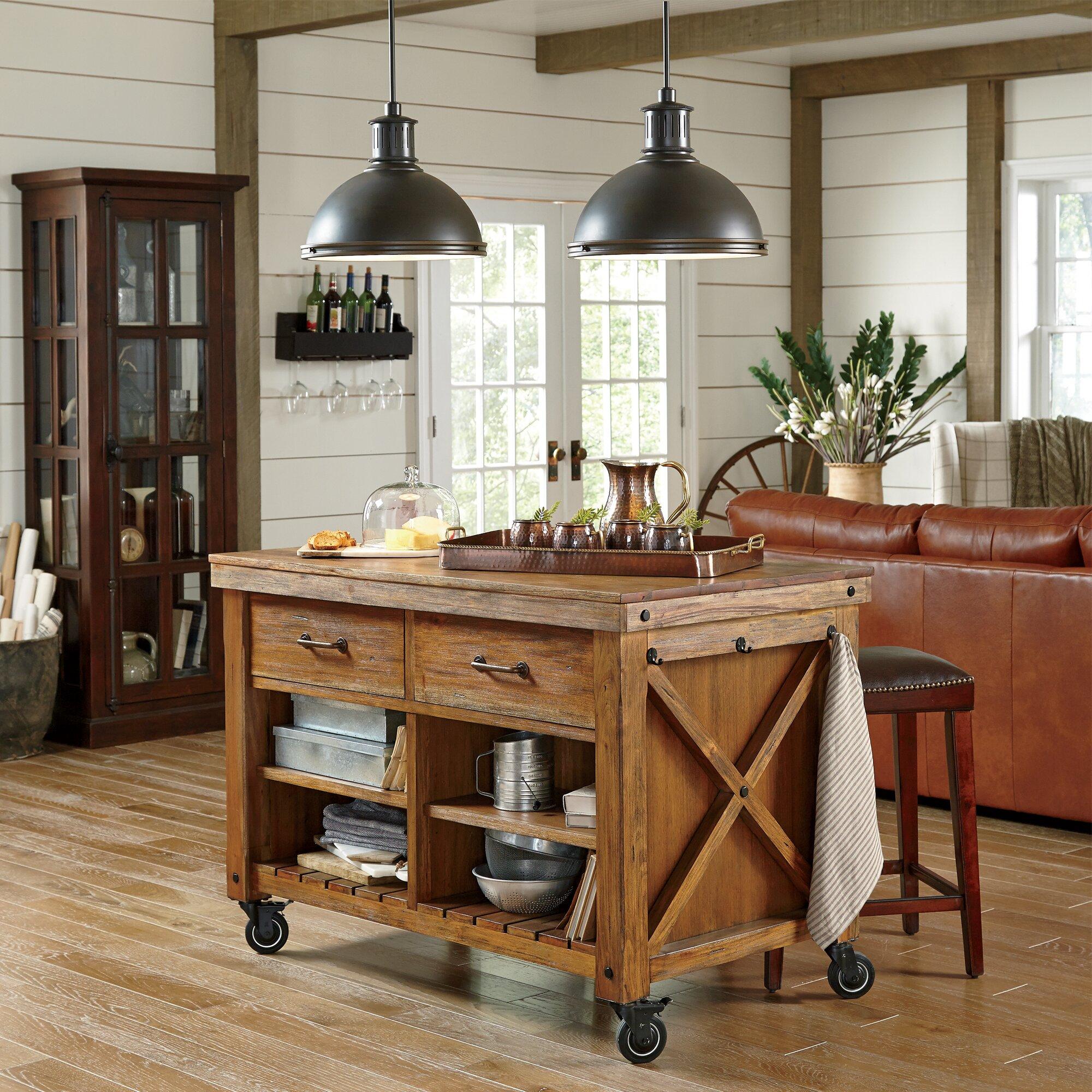 birch lane vargas kitchen island amp reviews wayfair