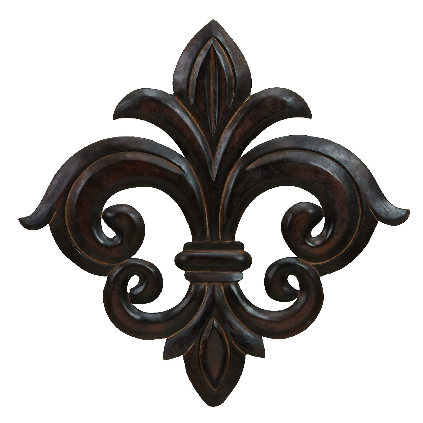 Cole Grey Wood Fleur De Lis Wall Decor Reviews Wayfair