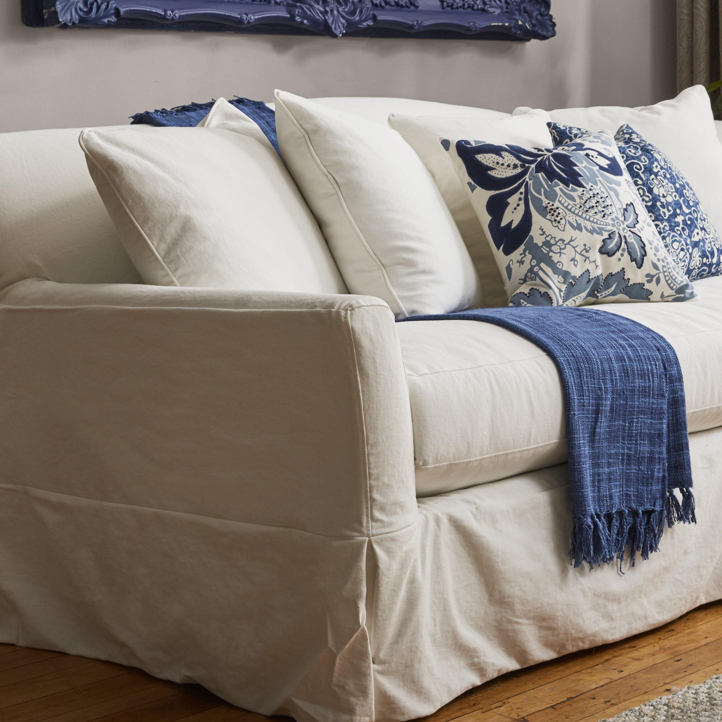 Birch Lane Fairchild Slipcovered Sofa Amp Reviews Wayfair