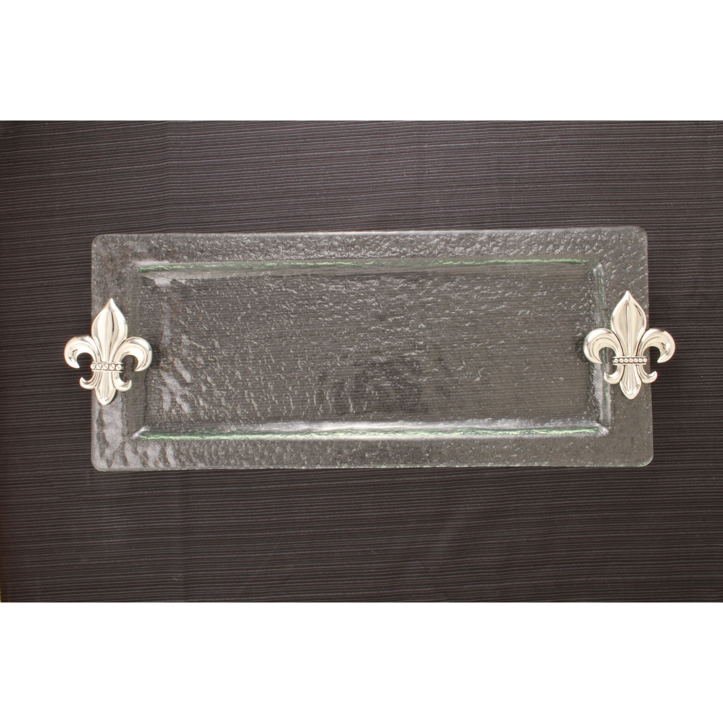 Thirstystone fleur de lis rectangular serving tray reviews wayfair - Fleur de lis serving tray ...