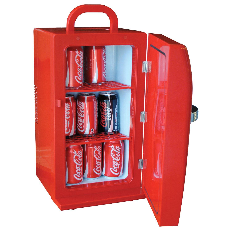 koolatron coca cola 12 can retro compact refrigerator reviews wayfair. Black Bedroom Furniture Sets. Home Design Ideas