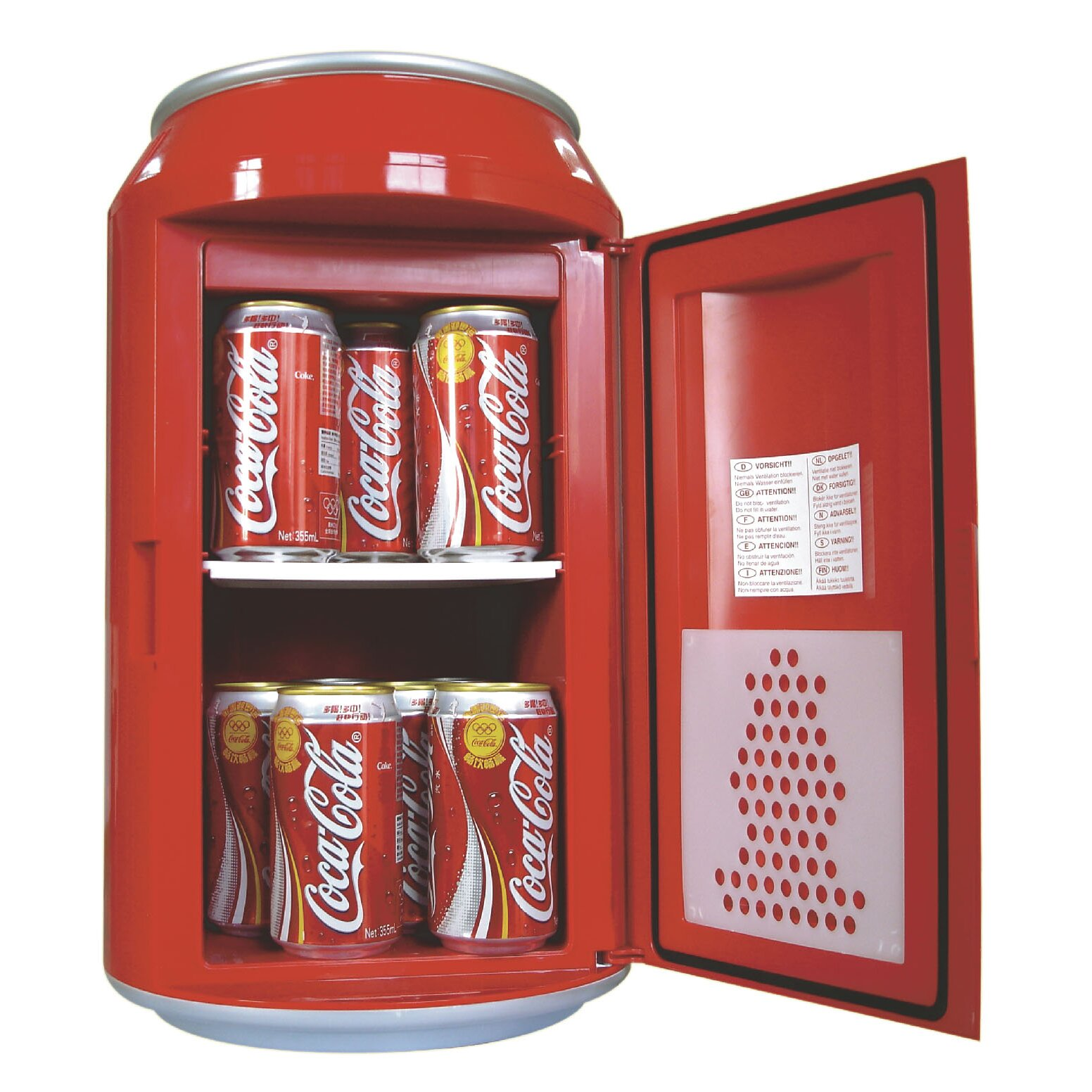koolatron coca cola 8 can beverage center reviews wayfair. Black Bedroom Furniture Sets. Home Design Ideas