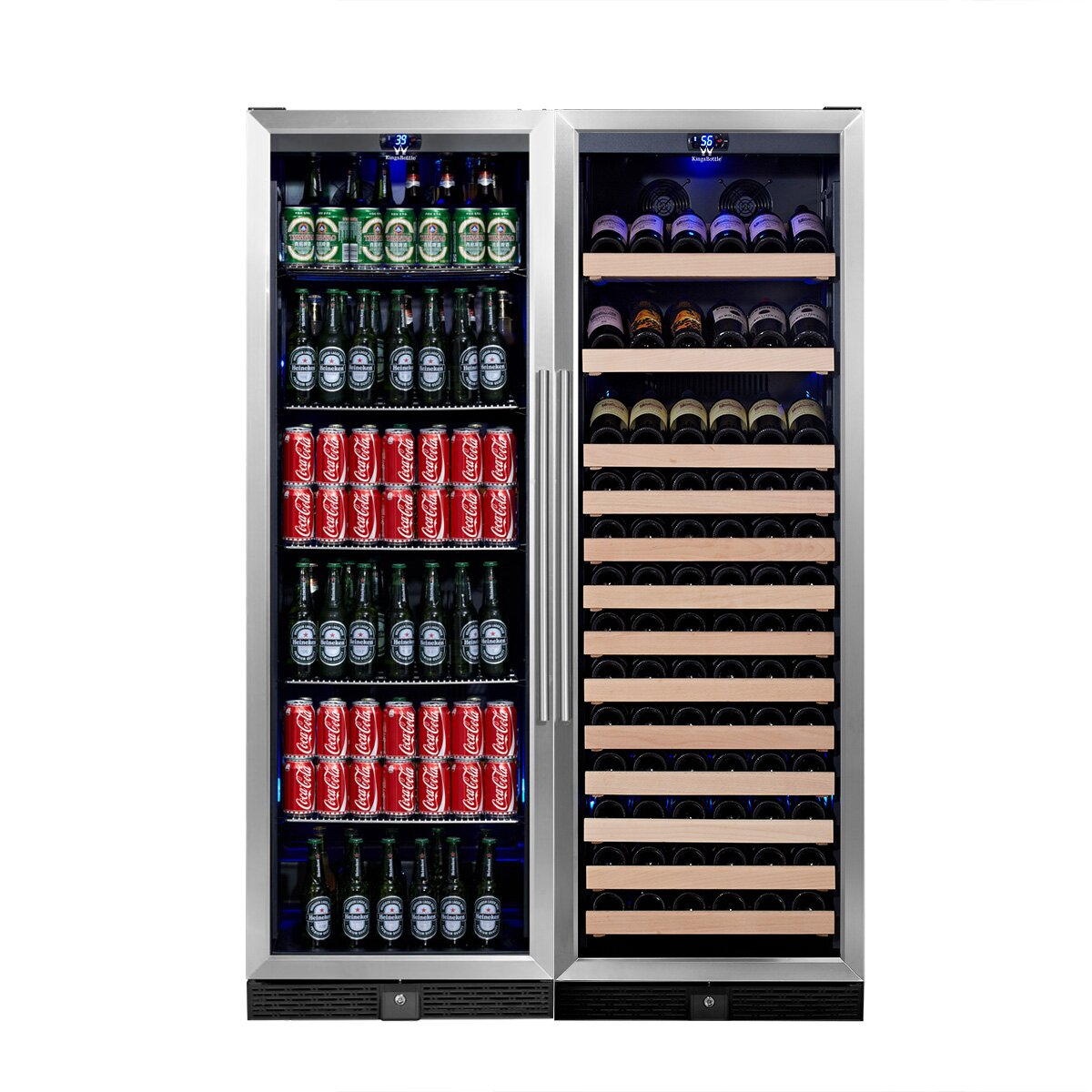 kingsbottle 131 bottle dual zone built in wine refrigerator wayfair. Black Bedroom Furniture Sets. Home Design Ideas