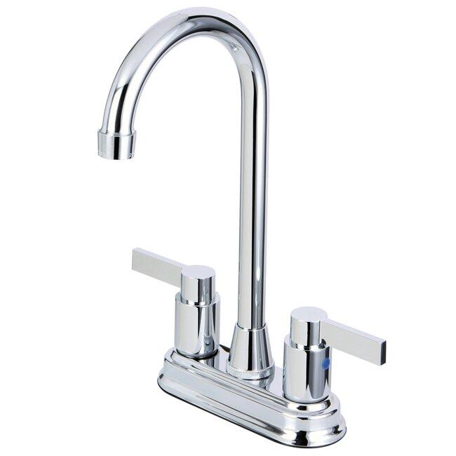 Kingston Brass Nuvofusion Double Handle Centerset Kitchen Faucet Reviews Wayfair