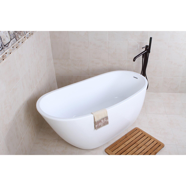 Kingston Brass Aqua Eden 59 Quot X 28 6 Quot Soaking Bathtub
