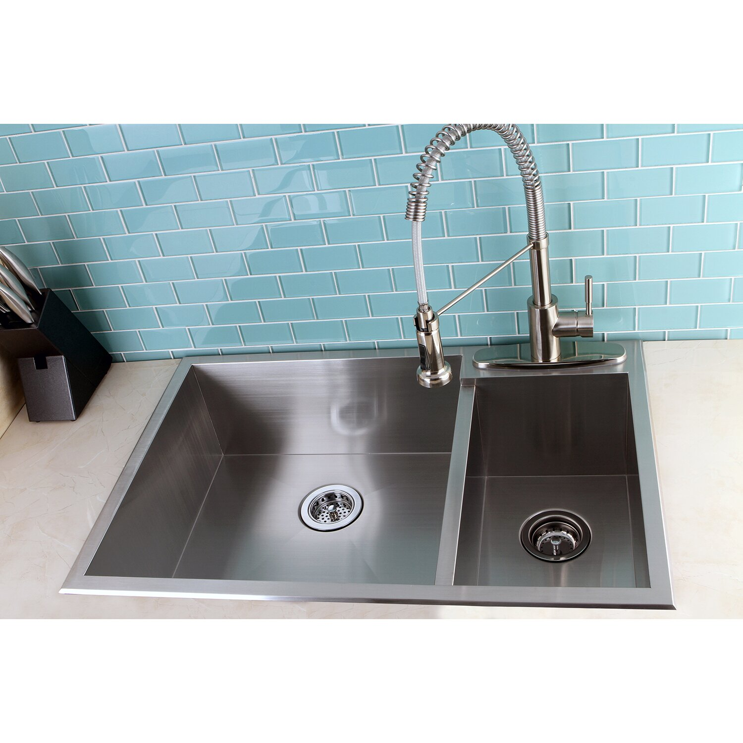 30 inch double bowl kitchen sink kingston brass uptowne 33 quot x 22 quot self 70 30 8982