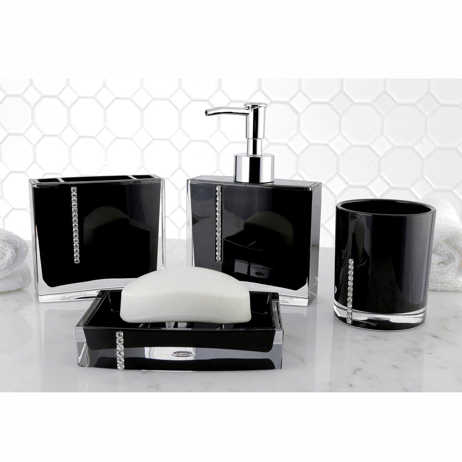 Kingston brass capitol 4 piece bath accessory set for Bathroom 4 piece set