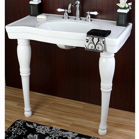 ... Imperial Wall Mount Pedestal Bathroom Sink & Reviews Wayfair.ca