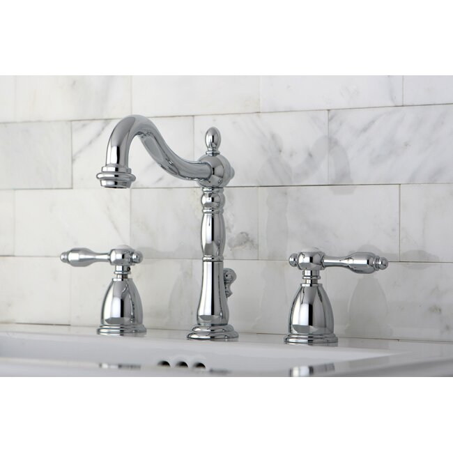 Kingston Brass Tudor Double Handle Widespread Bathroom Faucet with ABS ...