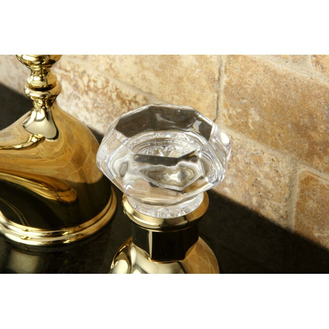 Shop Victorian Crystal Widespread Bathroom Faucet: Kingston Brass Celebrity Celebrity Double Crystal Handle Widespread Bathroom Faucet With Brass
