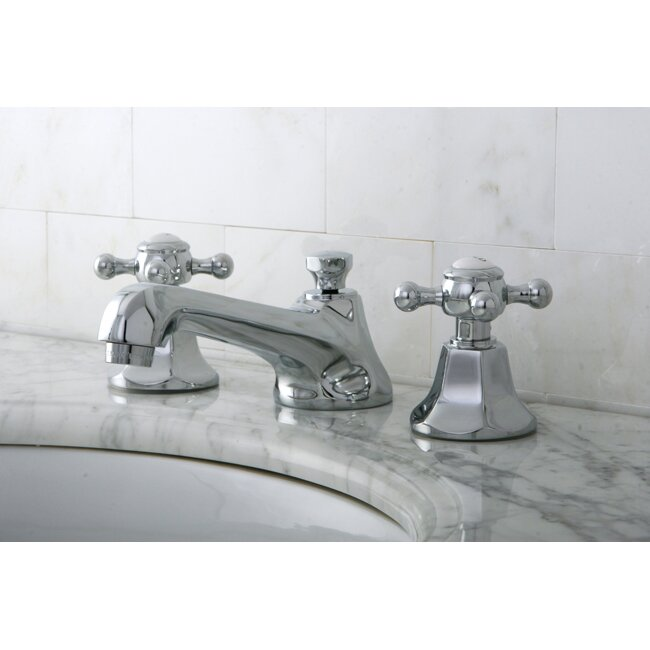 Kingston Brass Metropolitan Double Handle Widespread Bathroom Faucet With Pop Up Drain Reviews