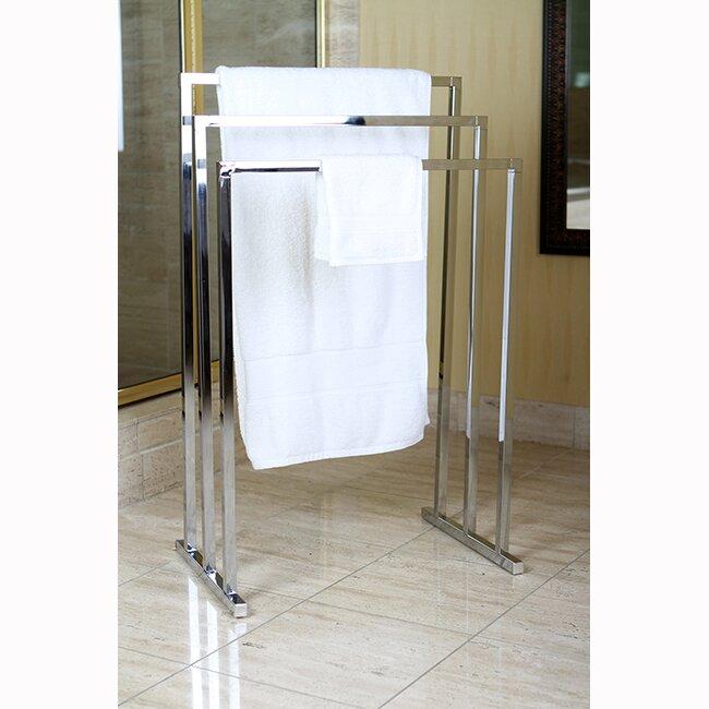 Kingston brass edenscape free standing towel stand - Bathroom towel racks free standing ...
