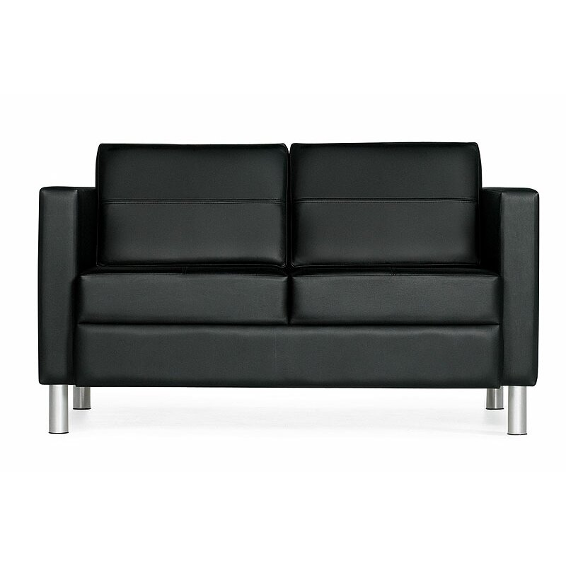 Global Total Office Citi Leather Loveseat Reviews Wayfair