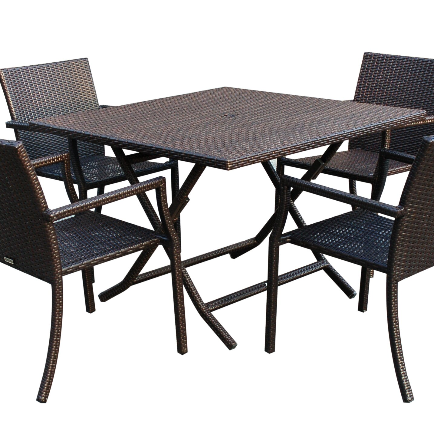 Jeco inc 5 piece dining set wayfair for Foldable kitchen set