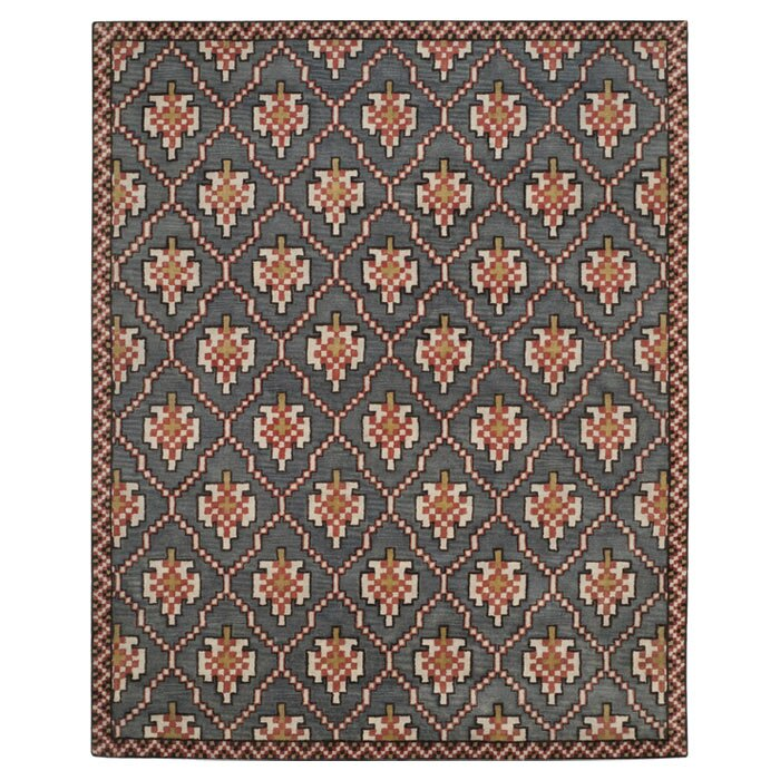 Isaac Mizrahi Navy/Rust Geometric Rug : Wayfair