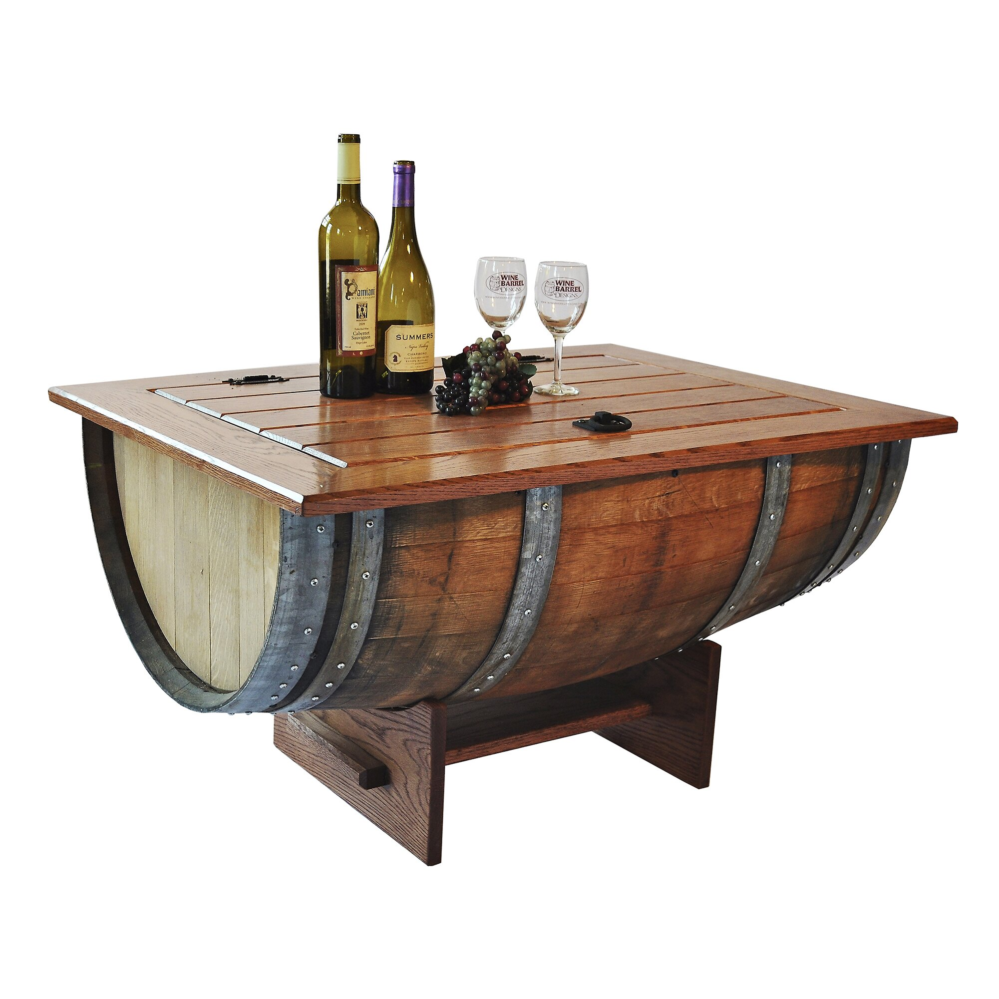 Napa East Collection Wine Barrel Coffee Table Amp Reviews