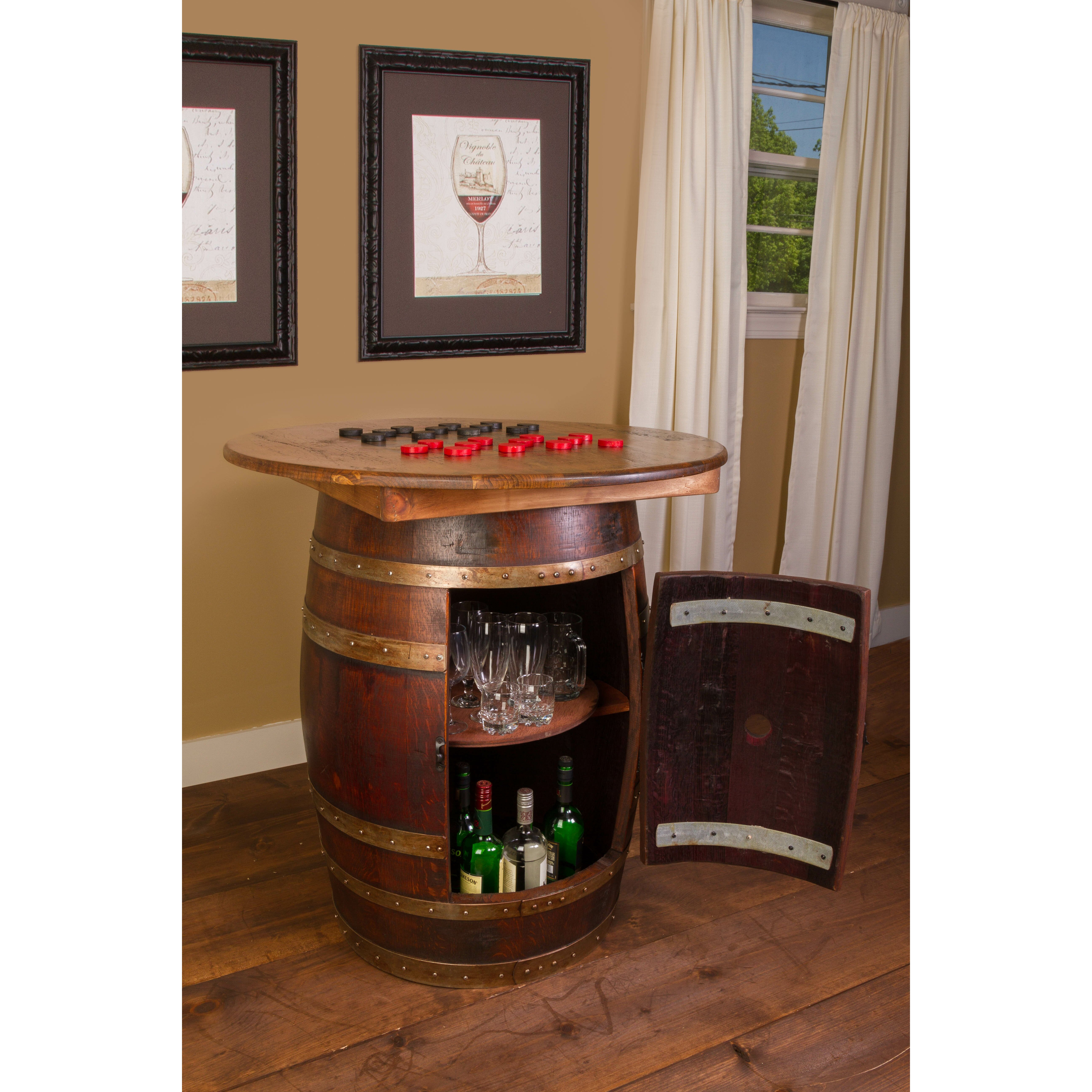 Napa East Collection Whiskey Barrel Pub Table Wayfair