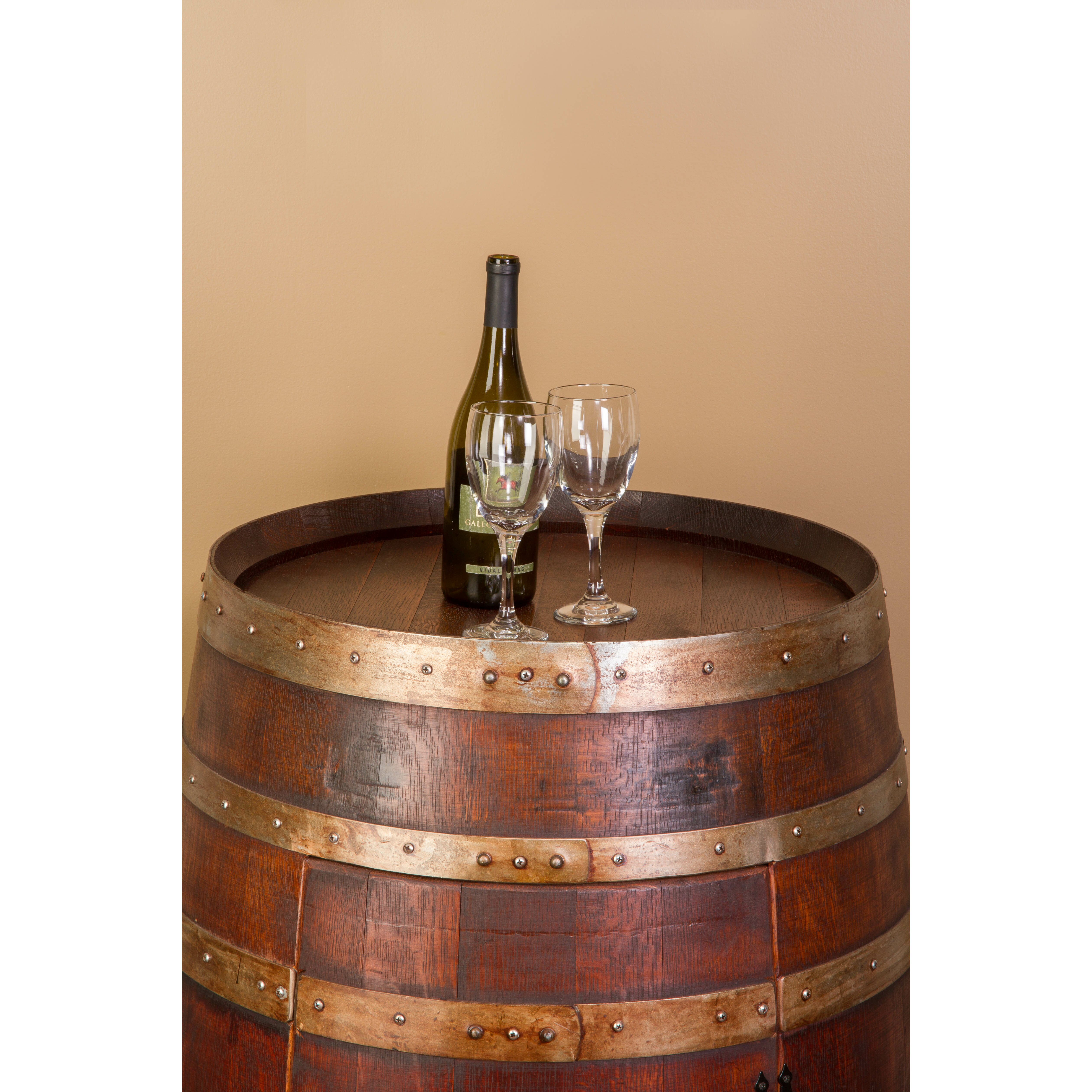 The Kitchen Door Napa: Napa East Collection Wine Barrel Bar With Bar Cabinet