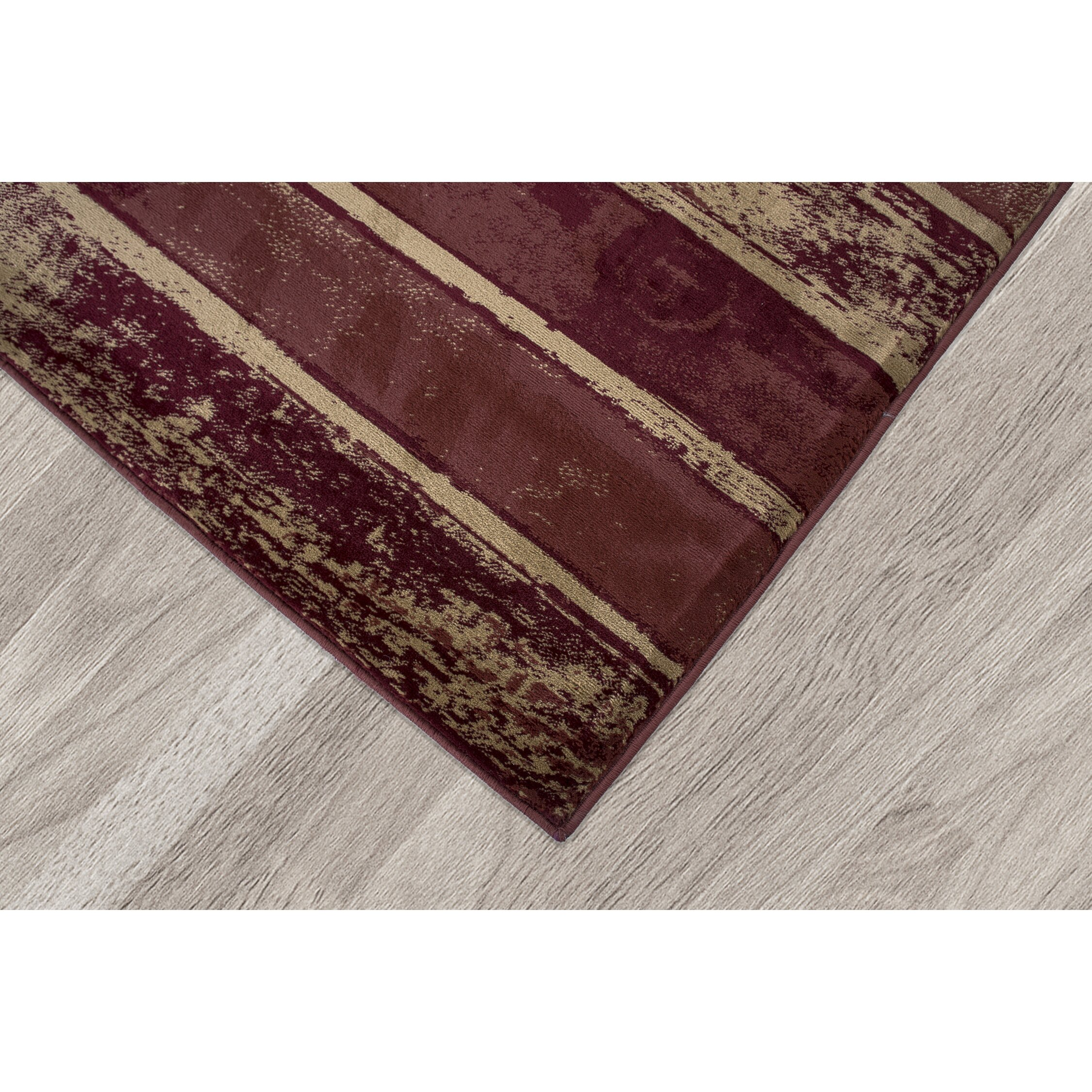 Ottomanson regal contemporary abstract red area rug wayfair for Red area rugs contemporary