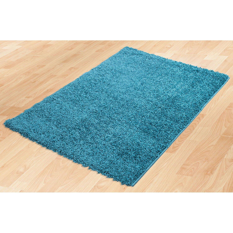 ottomanson turquoise blue shaggy area rug reviews wayfair