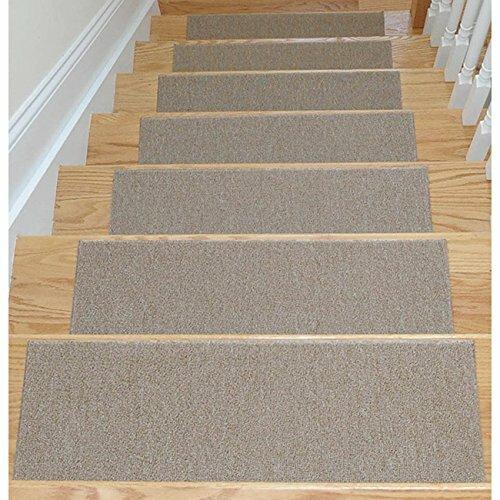 Dark Brown Slip Proof Stair Tread : Ottomanson dark beige stair tread reviews wayfair