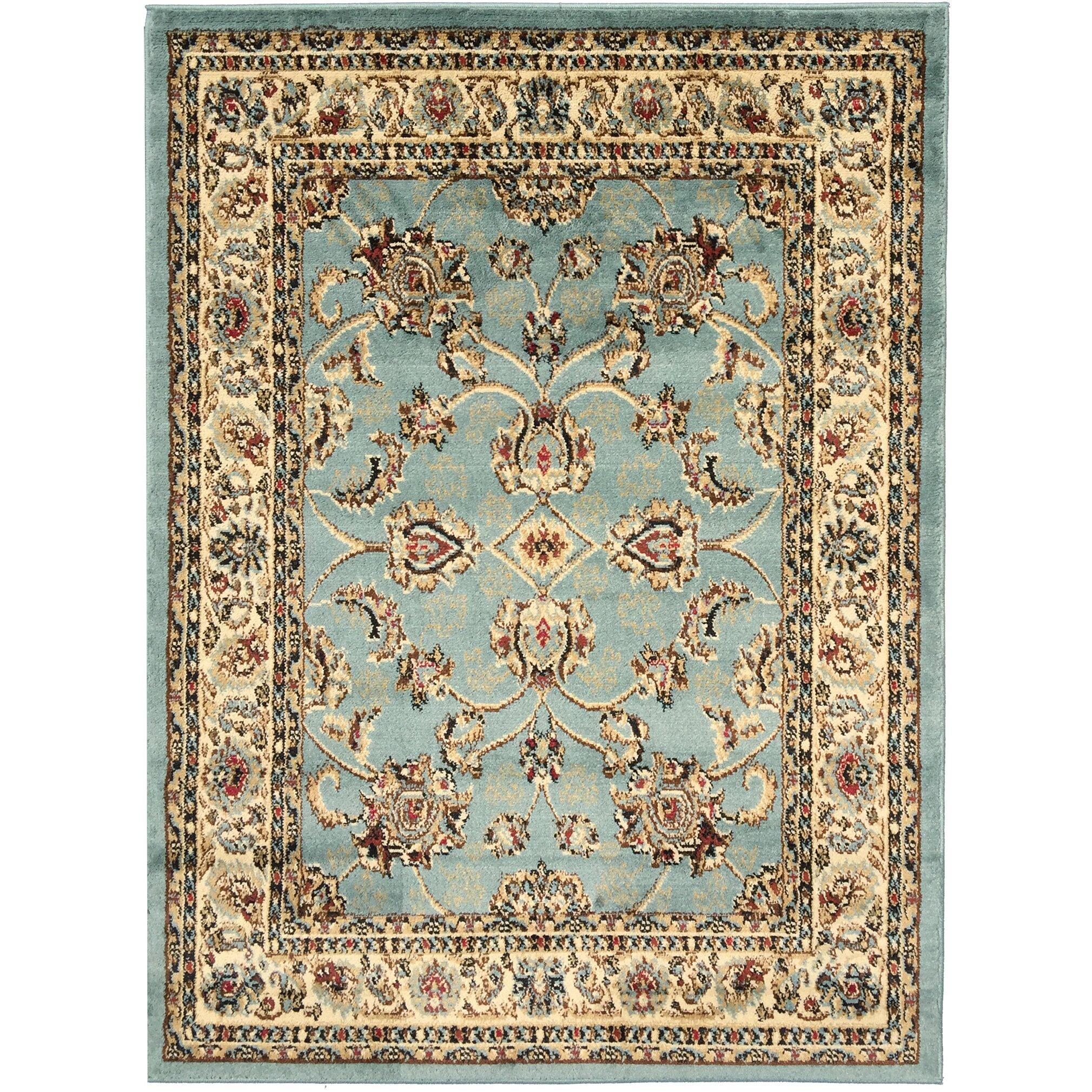 Ottomanson Royal Blue/Brown Area Rug & Reviews
