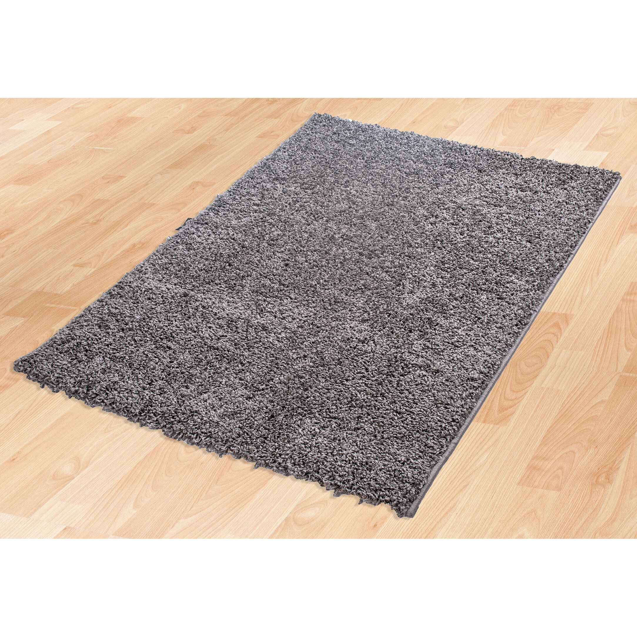 ottomanson ultimate shaggy grey solid area rug reviews. Black Bedroom Furniture Sets. Home Design Ideas