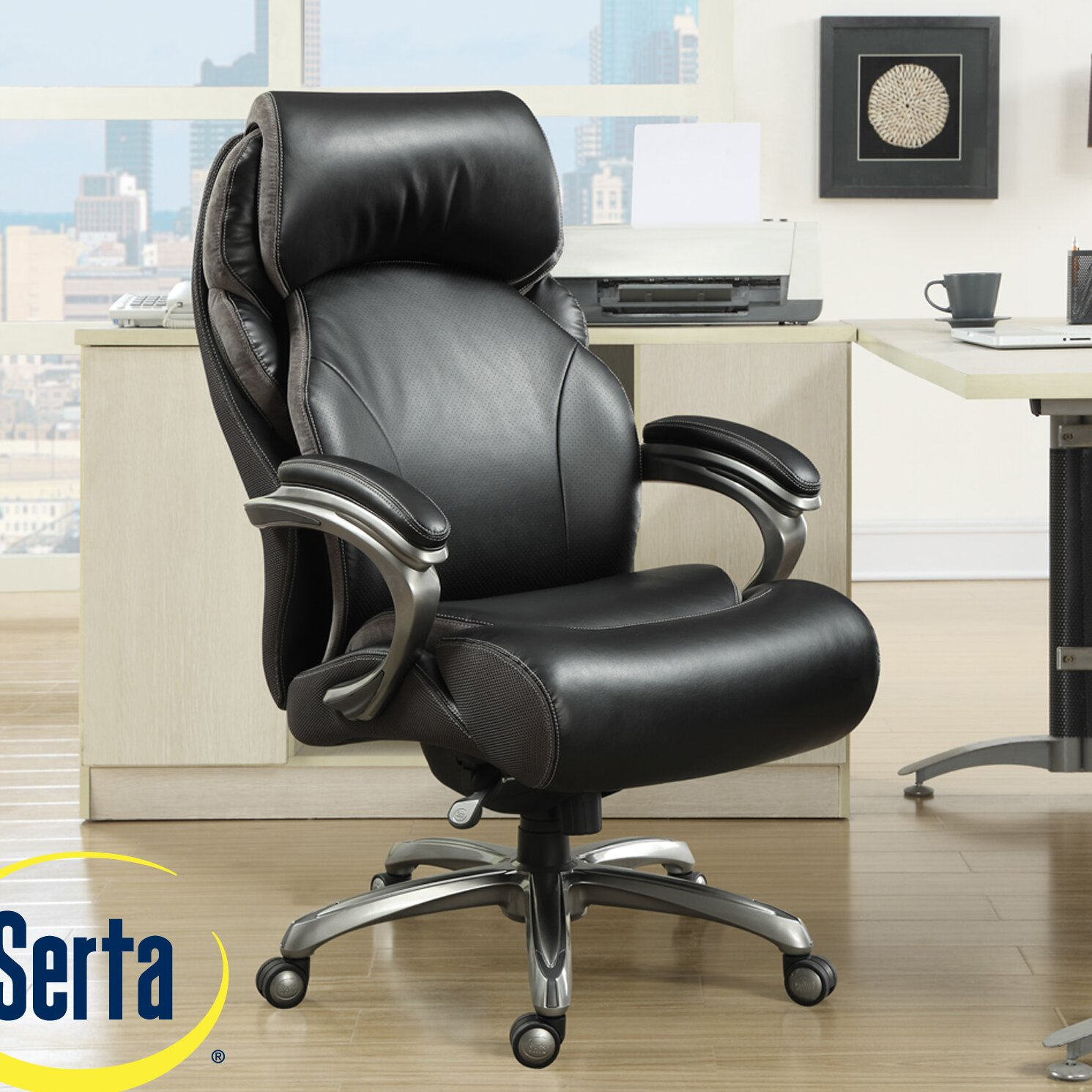 Serta At Home Tranquility High Back Executive Chair With AIR Technology Amp
