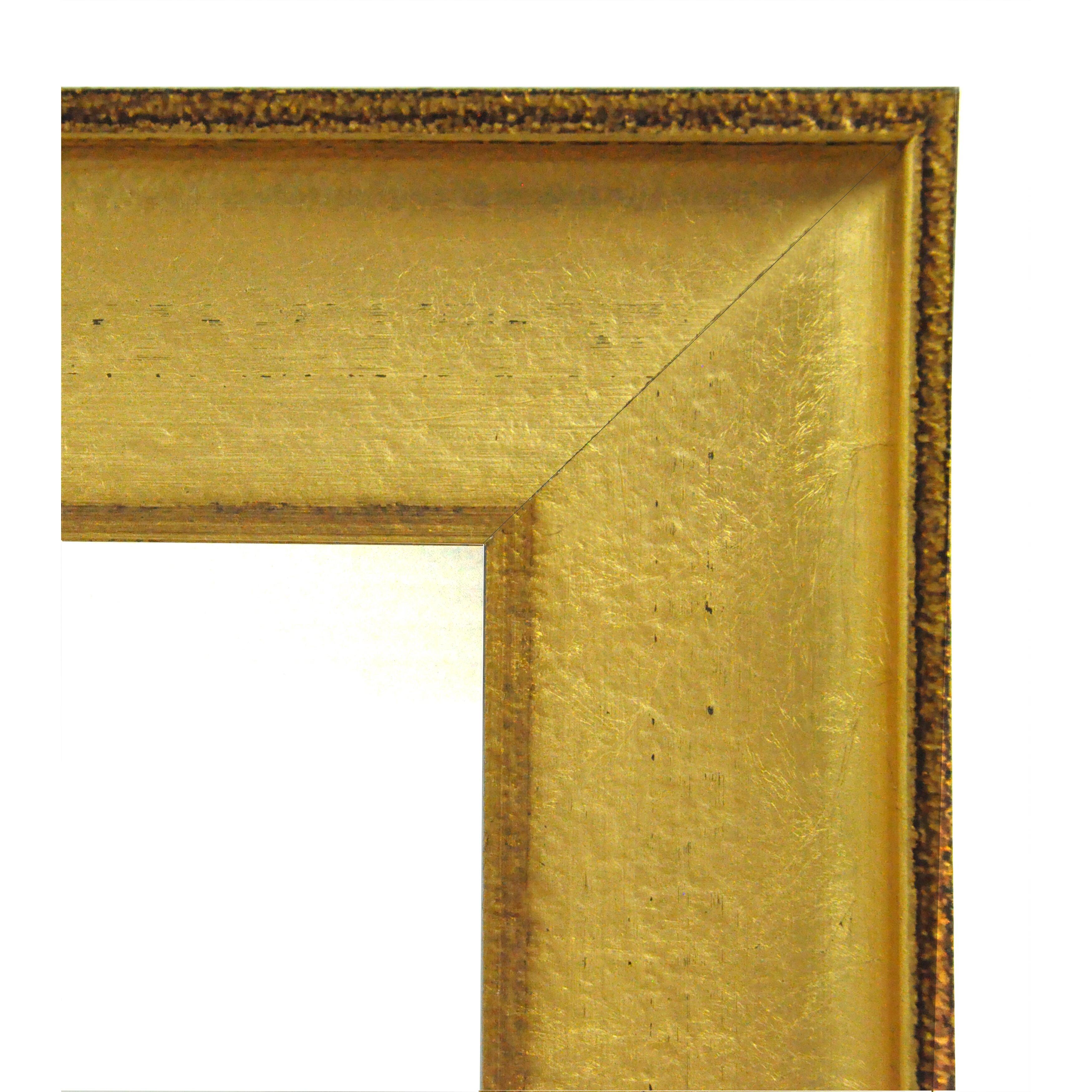 Rayne mirrors ava vintage gold tall mirror reviews wayfair for Tall gold mirror