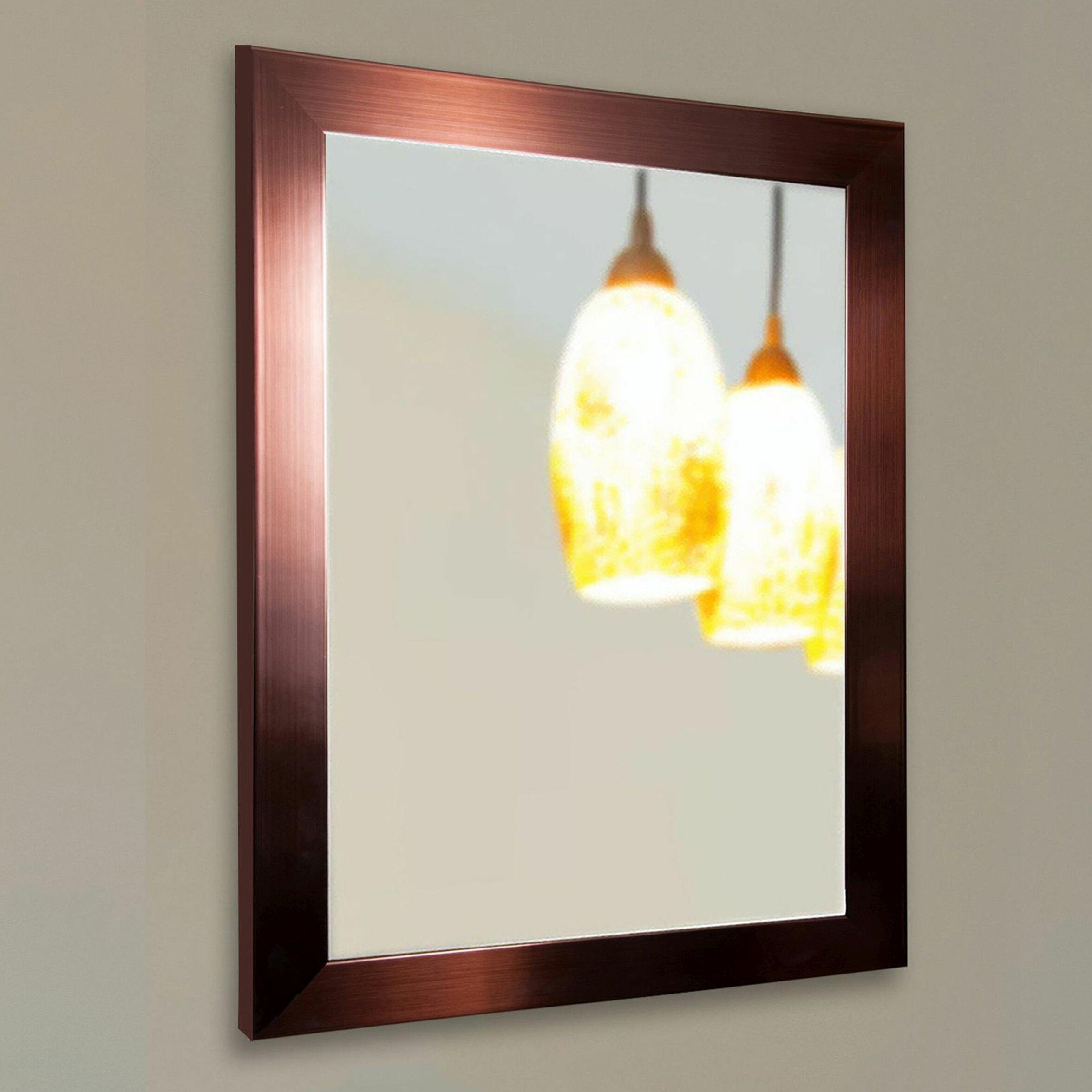 Rayne Mirrors Ava Industrial Bronze Wall Mirror u0026 Reviews : Wayfair