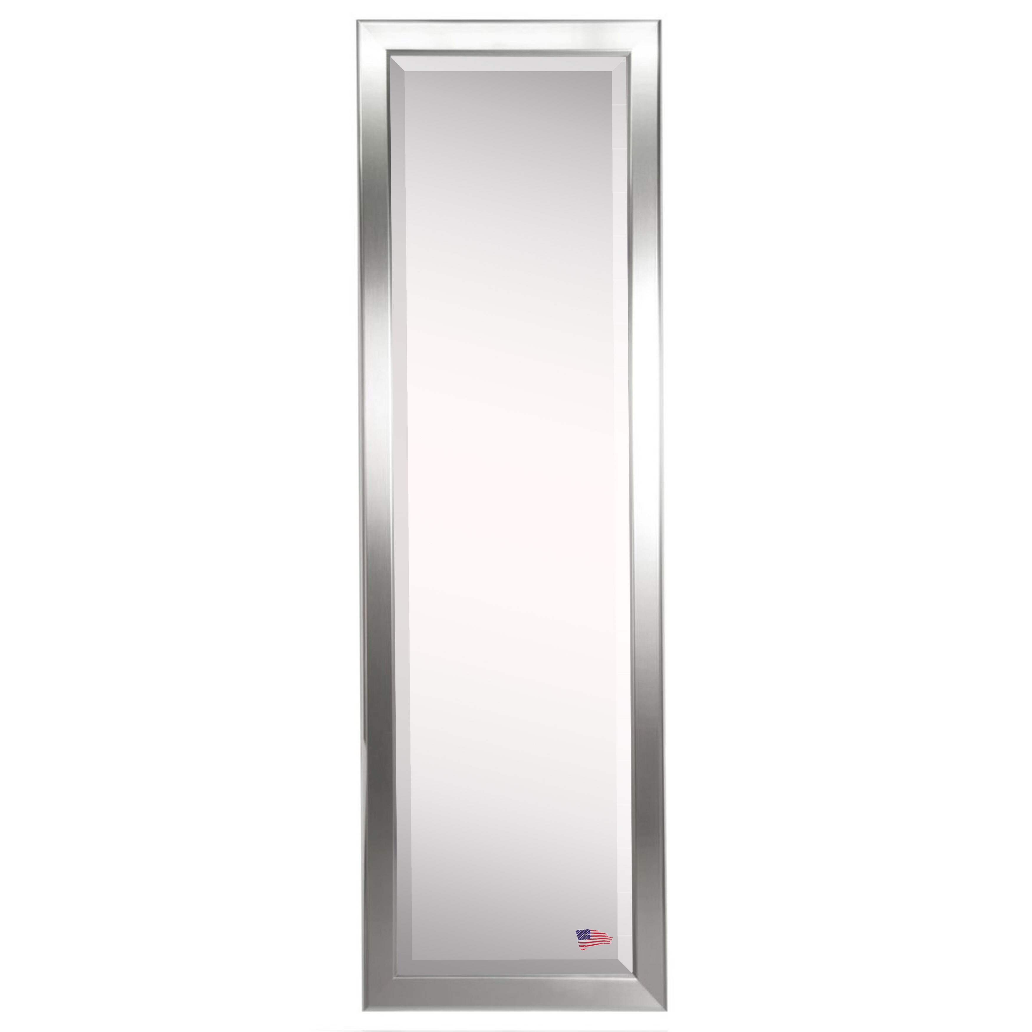 Rayne mirrors jovie jane round edge minimal silver full for Silver full length mirror
