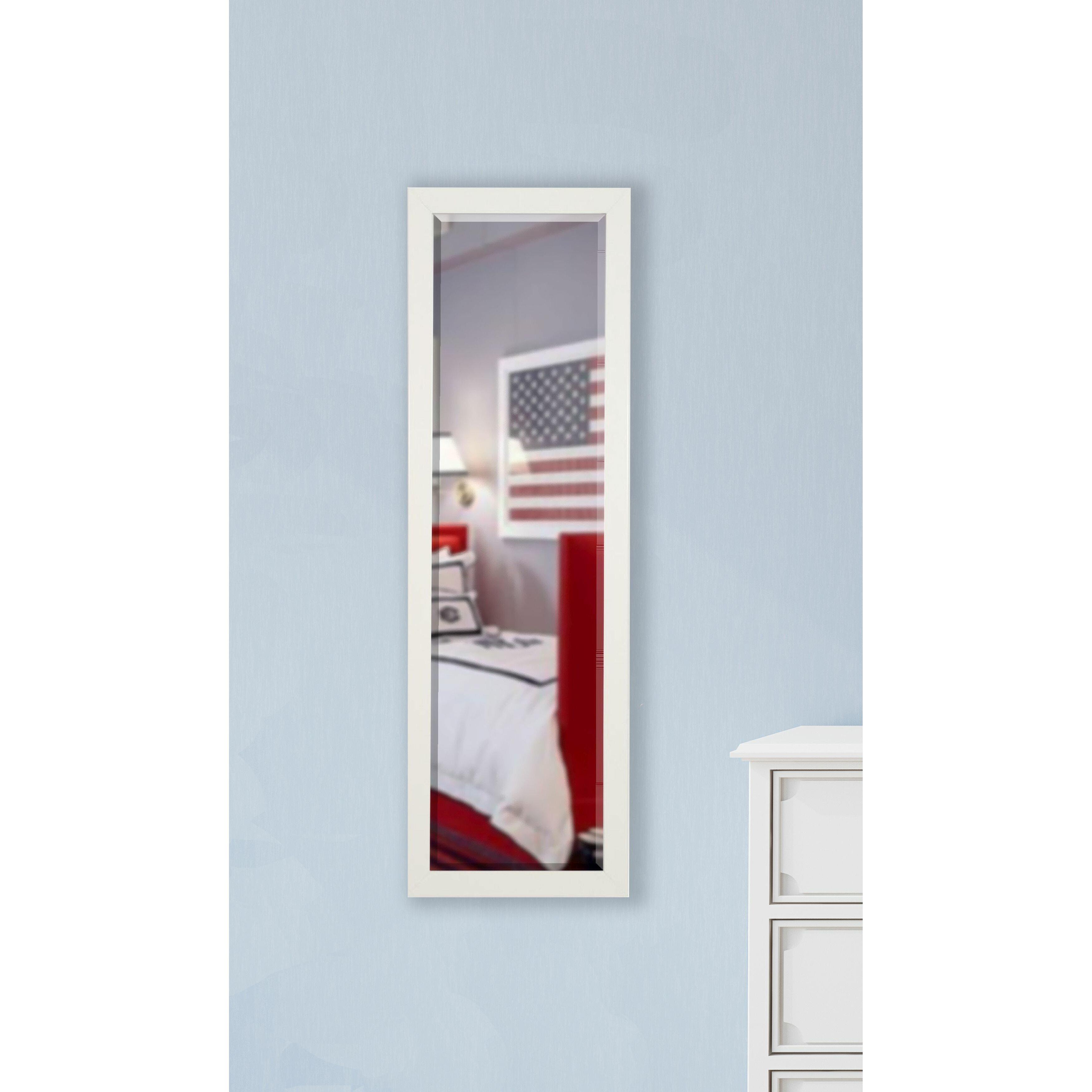 Rayne mirrors jovie jane glossy white full length beveled for White full length mirror