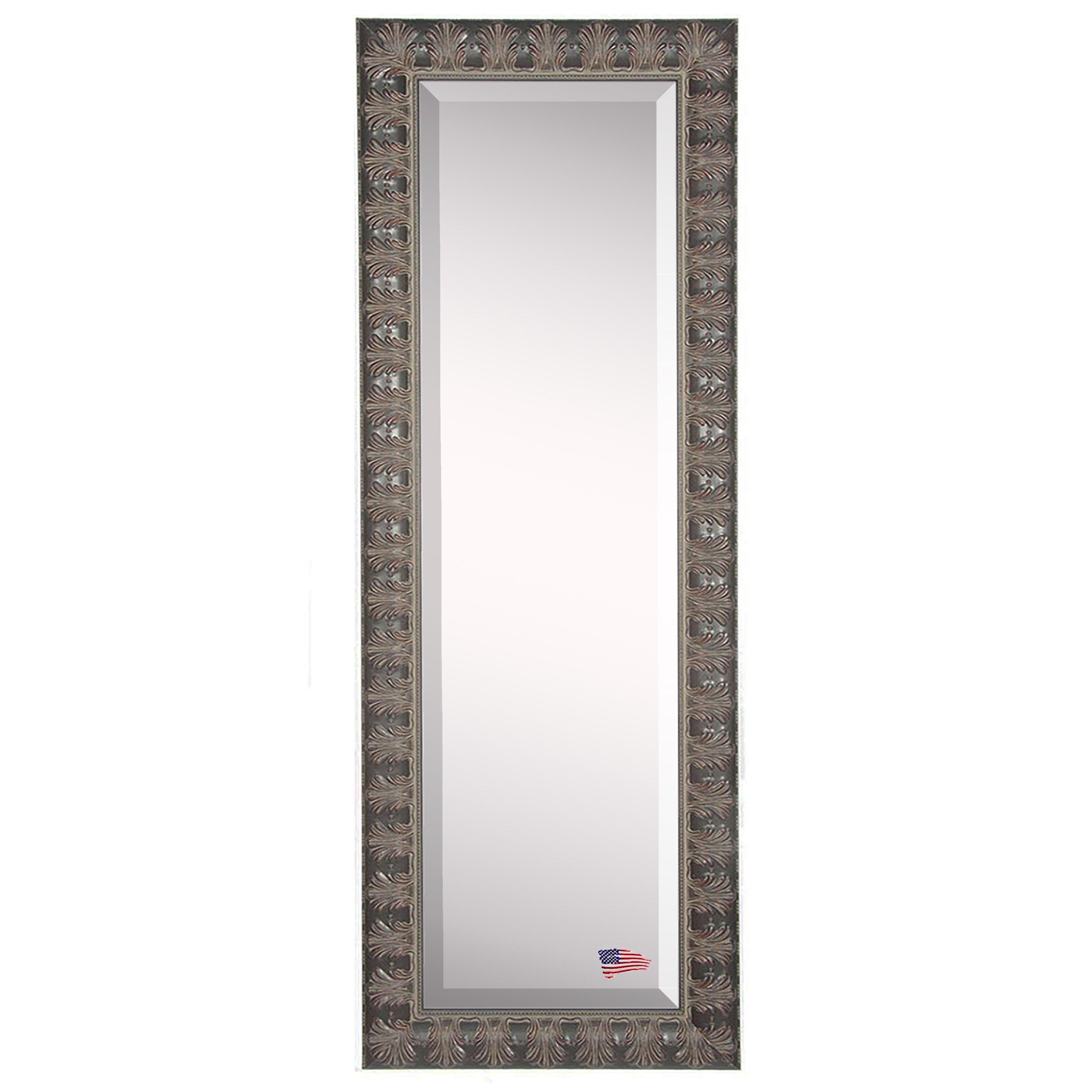 Rayne mirrors jovie jane mahogany feathered full length for Beveled mirror