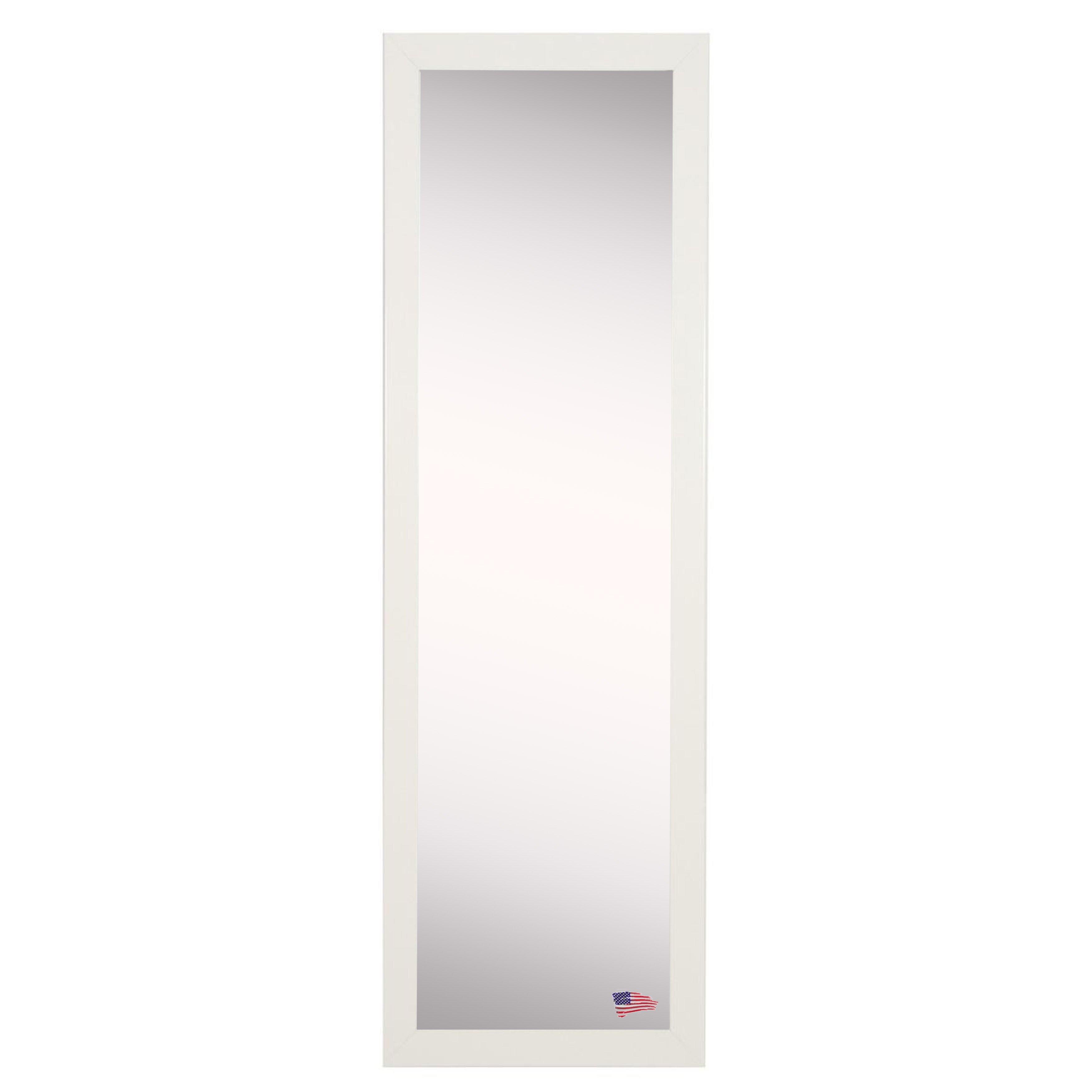 Rayne mirrors ava glossy white full length body mirror for White full length mirror
