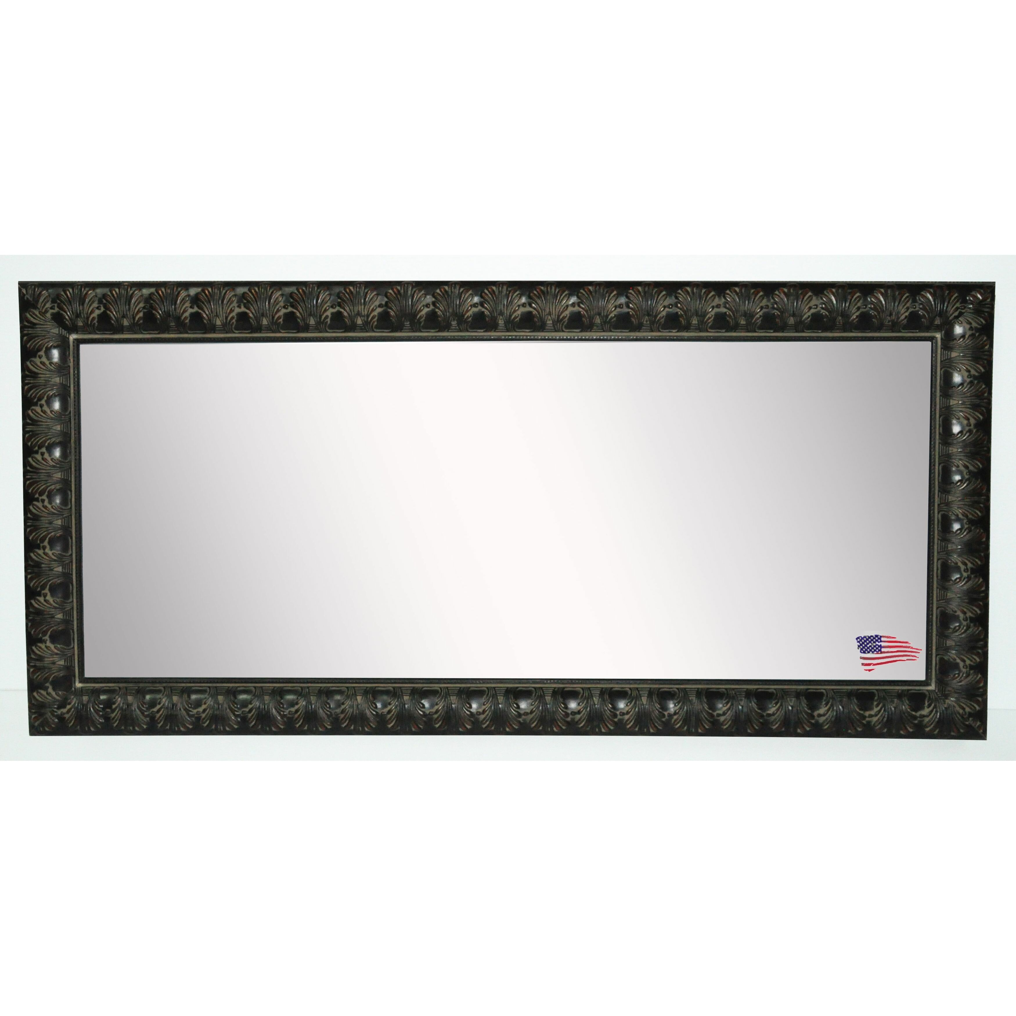Rayne mirrors feathered accent double vanity wall mirror for Accent wall mirrors